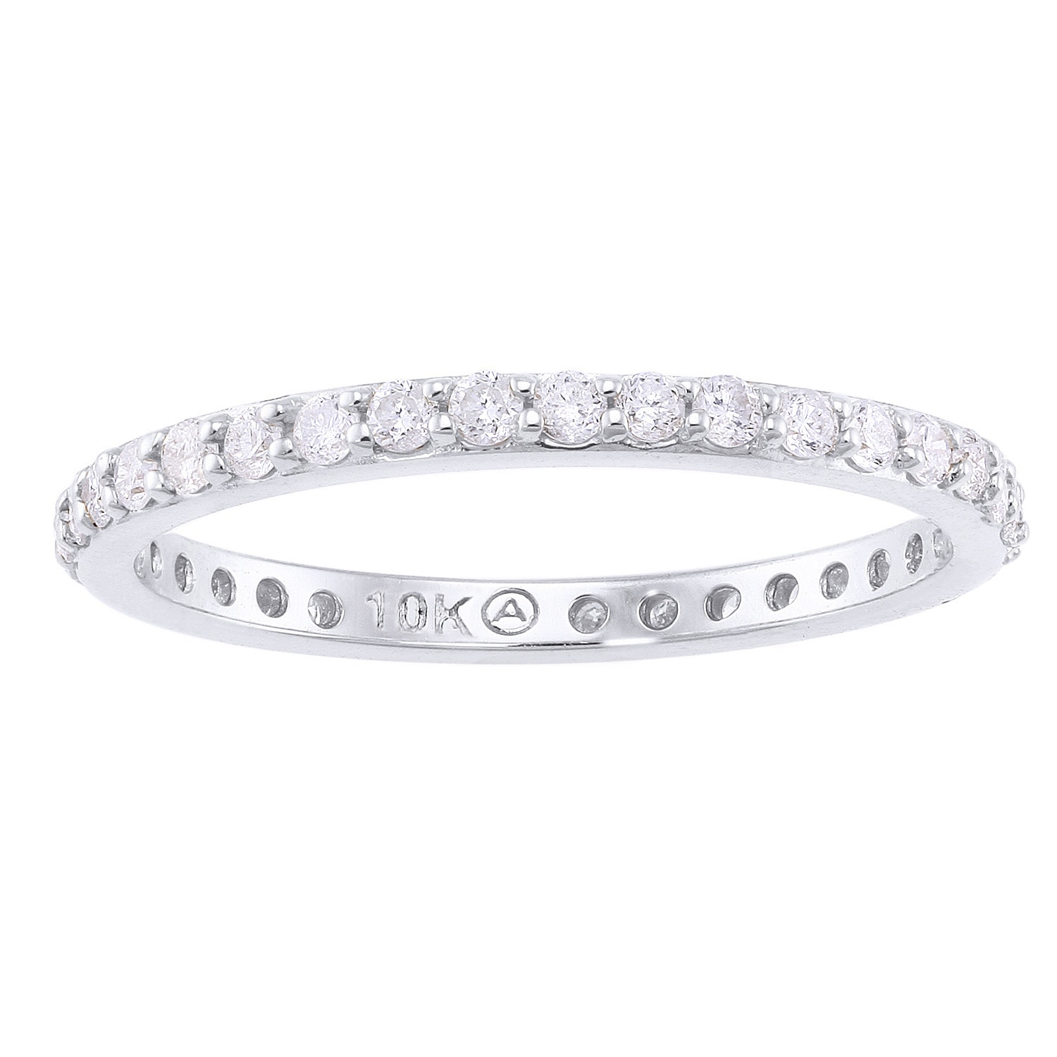 shared prong eternity band diamond basket pave low wb white carat bands