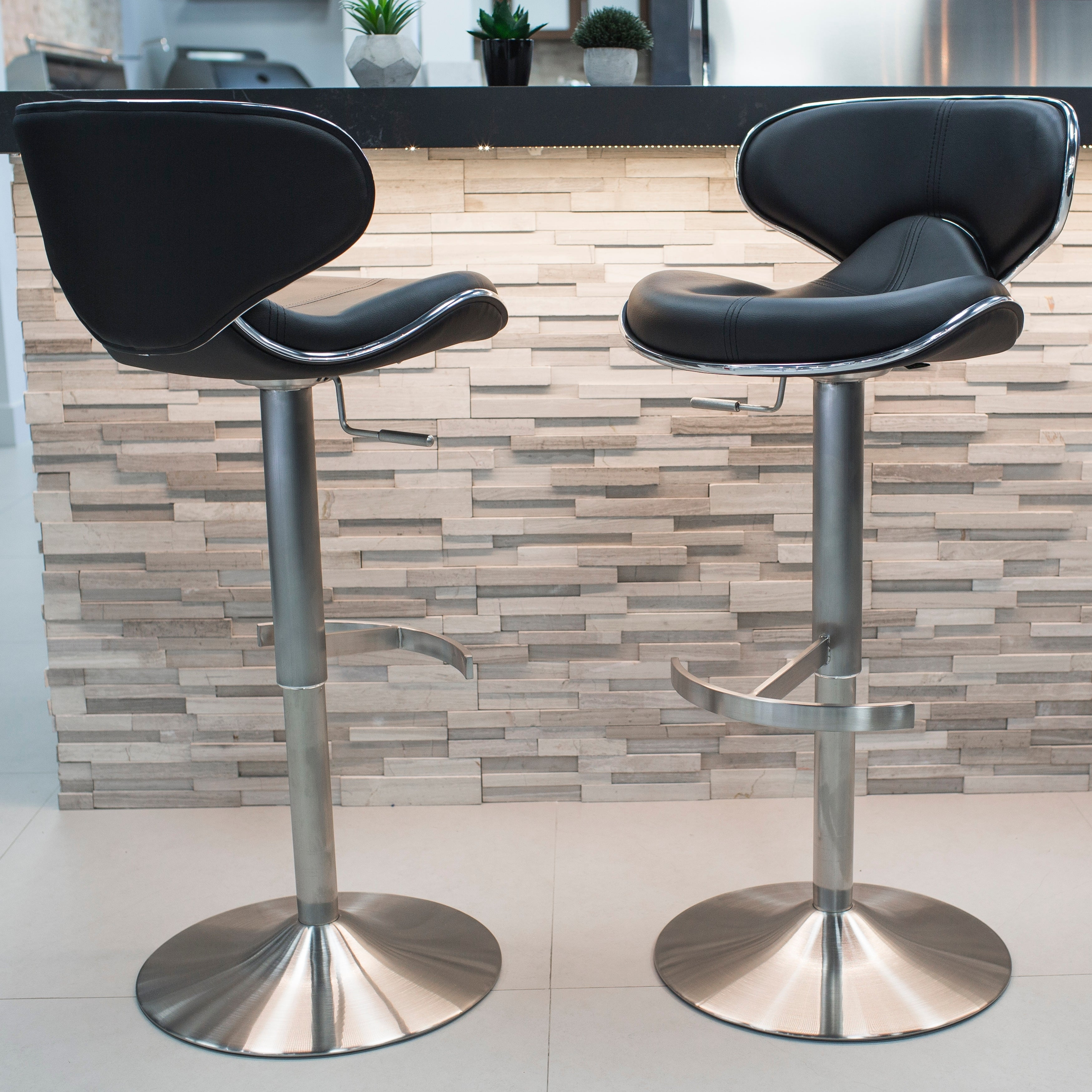 adjustable height swivel bar stool. MIX Brushed Stainless Steel Adjustable Height Swivel Bar Stool - Free Shipping Today Overstock 13443543 E