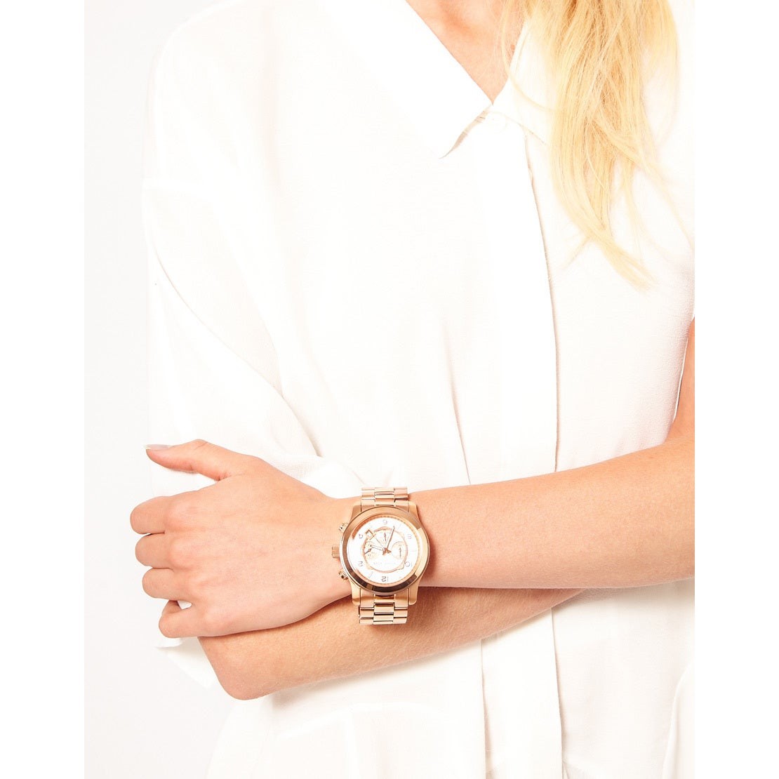 d4953c276e03 Shop Michael Kors Men s MK8096  Runway  Rose Gold-Tone Watch - Gold - Free  Shipping Today - Overstock - 5716192