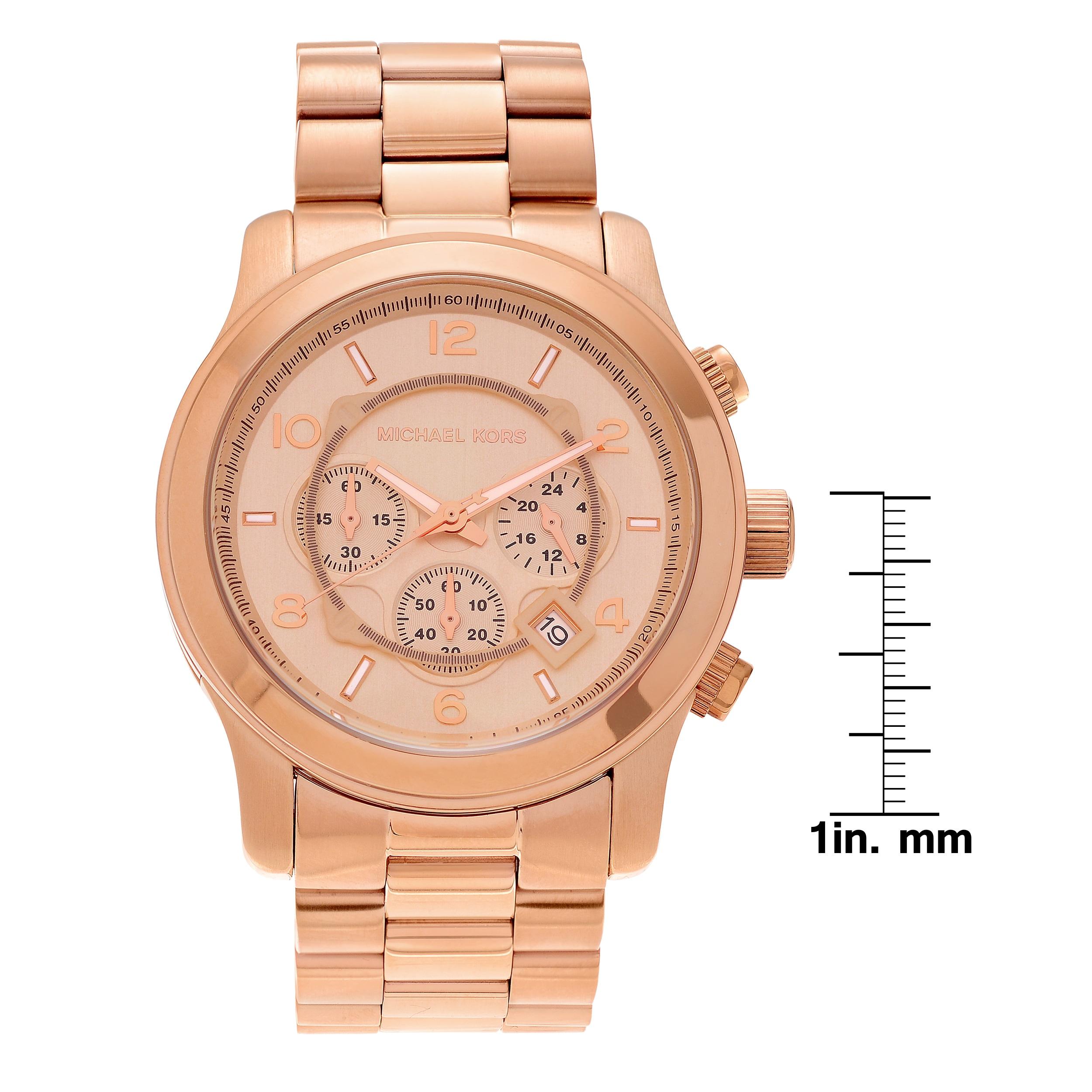 bd14a6ba3d3b Shop Michael Kors Men s MK8096  Runway  Rose Gold-Tone Watch - Gold - Free  Shipping Today - Overstock - 5716192