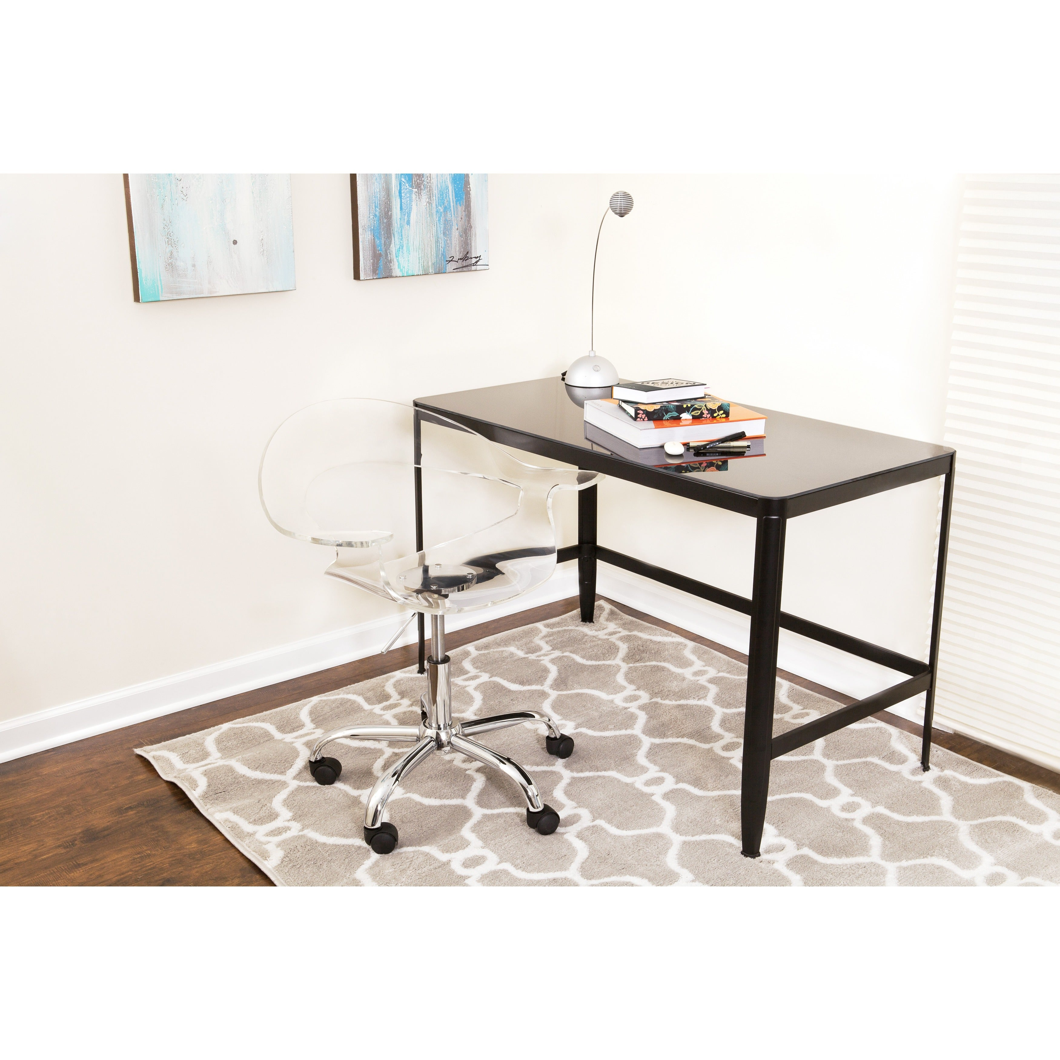 Charming Black Retro Office Desk/ Drafting Table   Free Shipping Today   Overstock    13457483