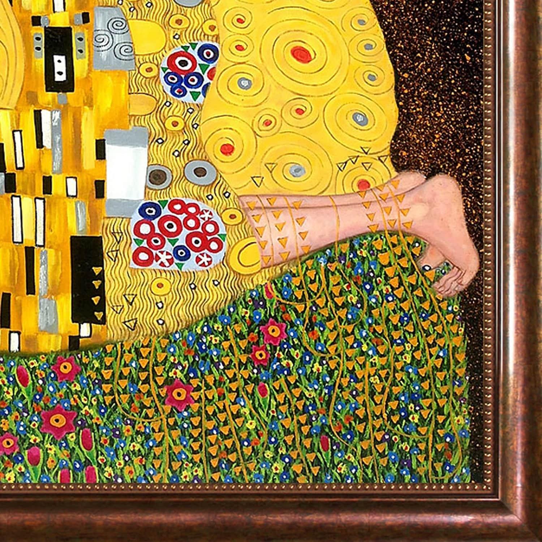Shop Gustav Klimt \'The Kiss\' Framed Canvas Art - On Sale - Free ...
