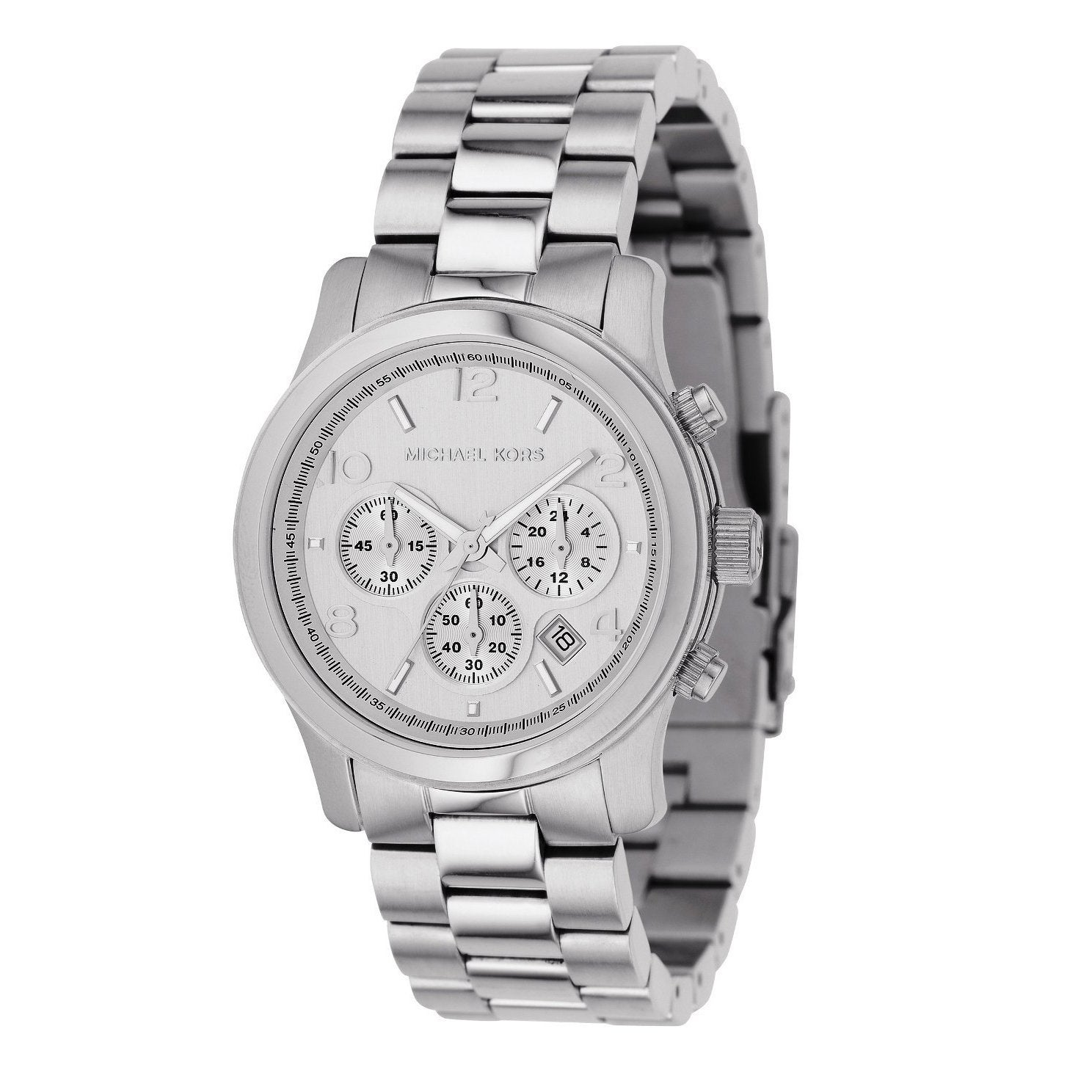 fa77f178e8f2 Michael Kors Women s MK5076 Classic Stainless Steel Silver Chronograph Watch