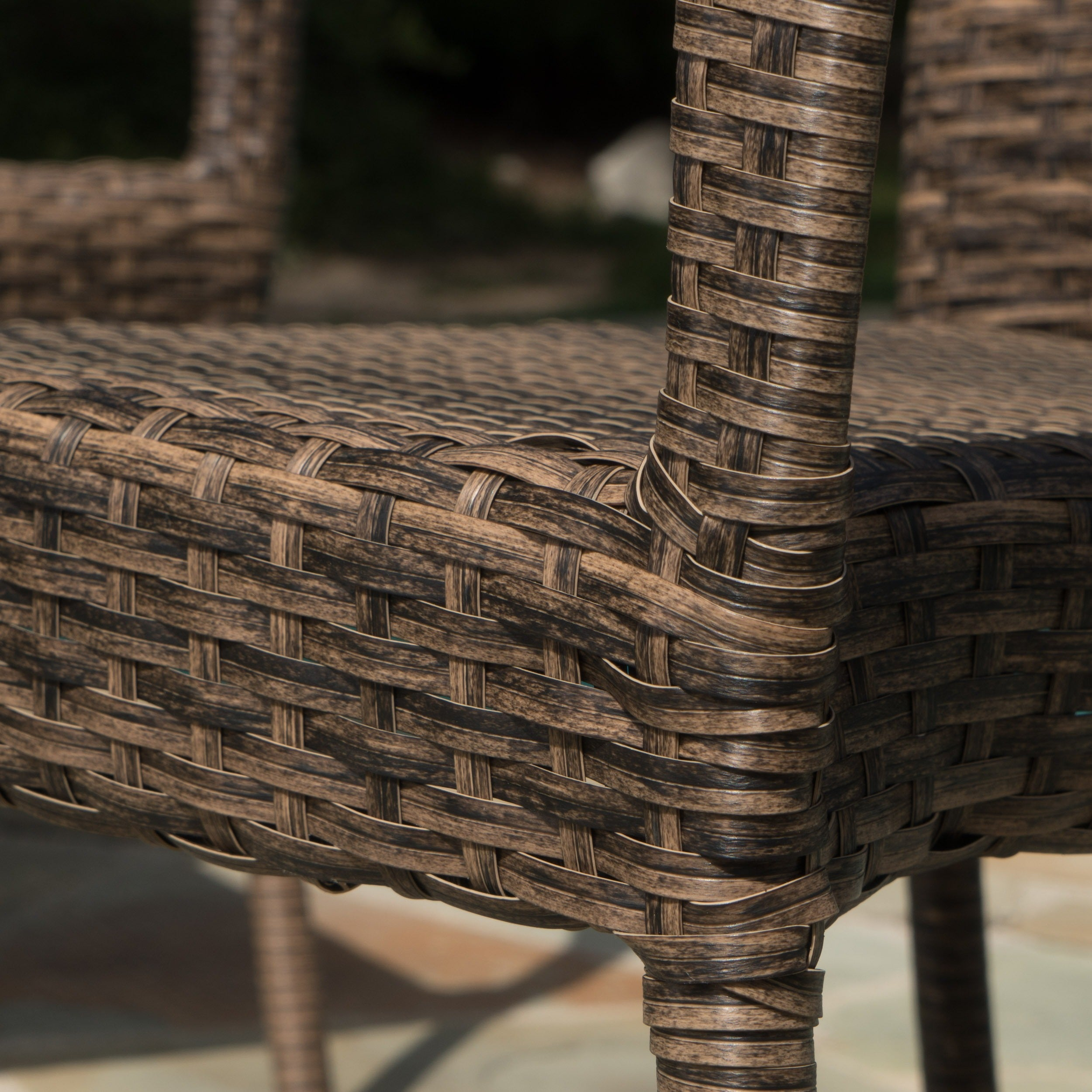 Shop Outdoor PE Wicker Stackable Club Chairs (Set of 2) by ...