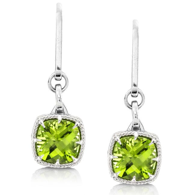Annello By Kobelli Sterling Silver Peridot Dangle Earrings Free Shipping Today 5735814