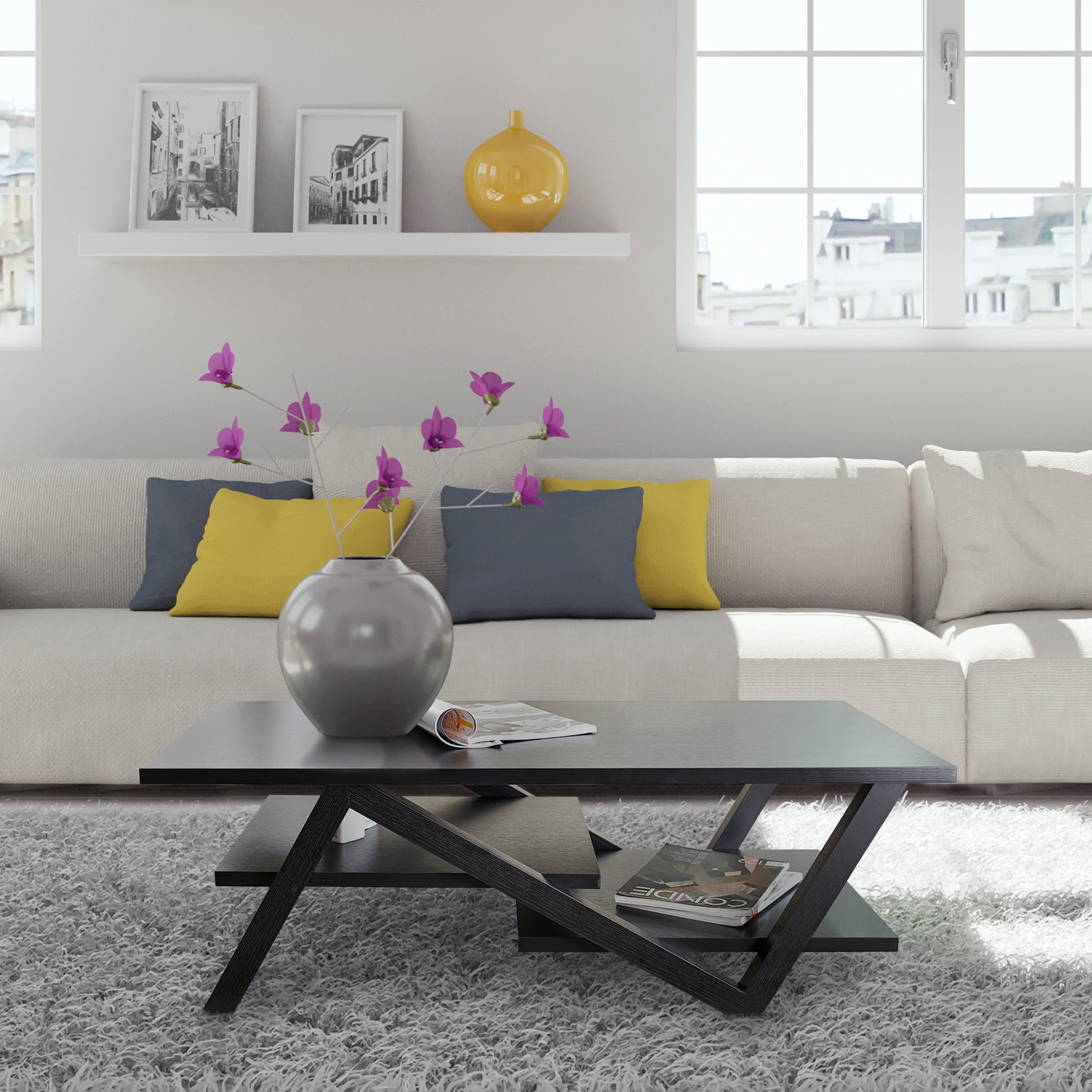 Furniture Of America Zoe Rectangular Coffee Table   Free Shipping Today    Overstock.com   13469180