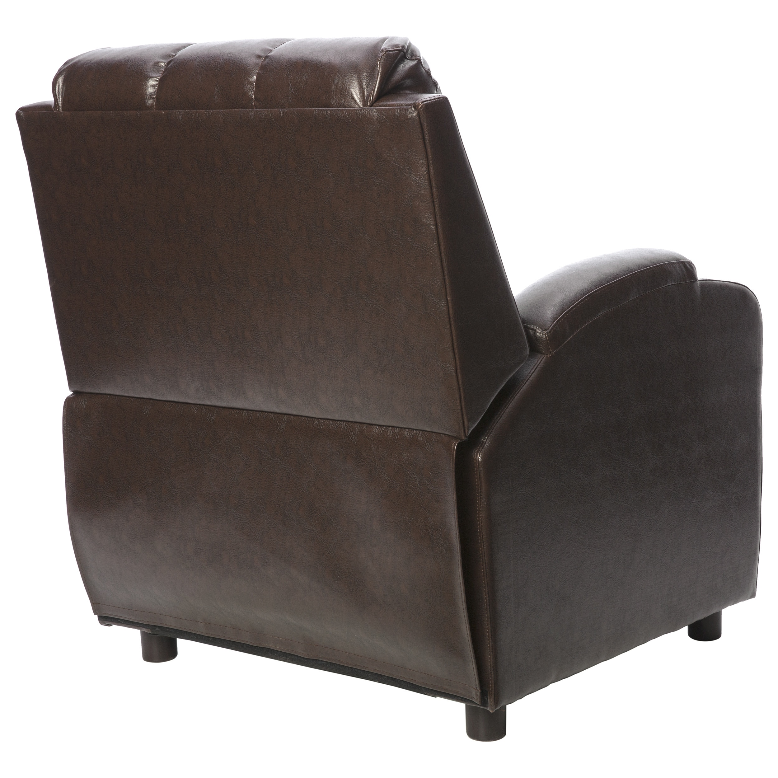 com brn chair in sofamania bob classic leather bonded brown products recliner