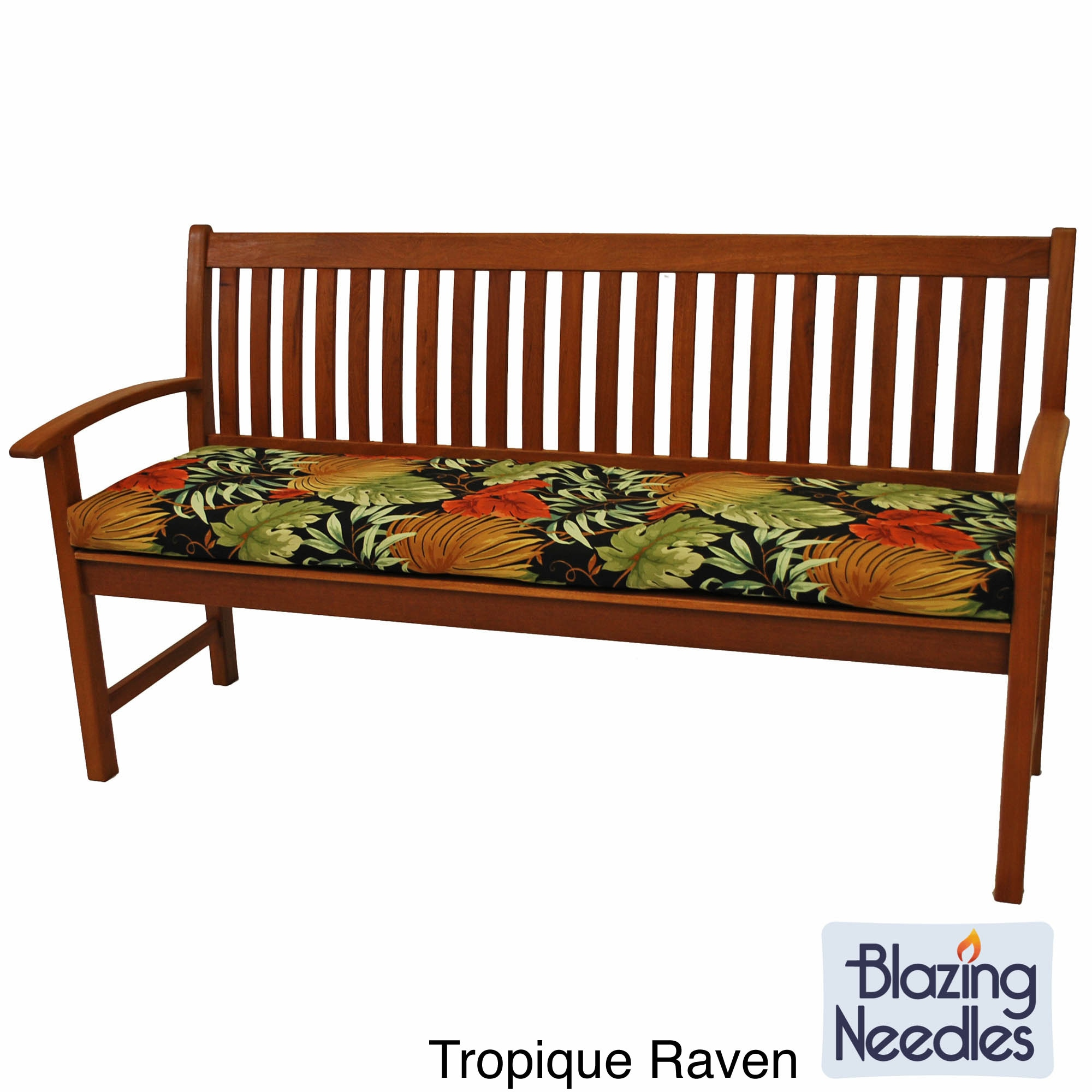 All Weather Outdoor Three Seater Bench Cushion with Zippered