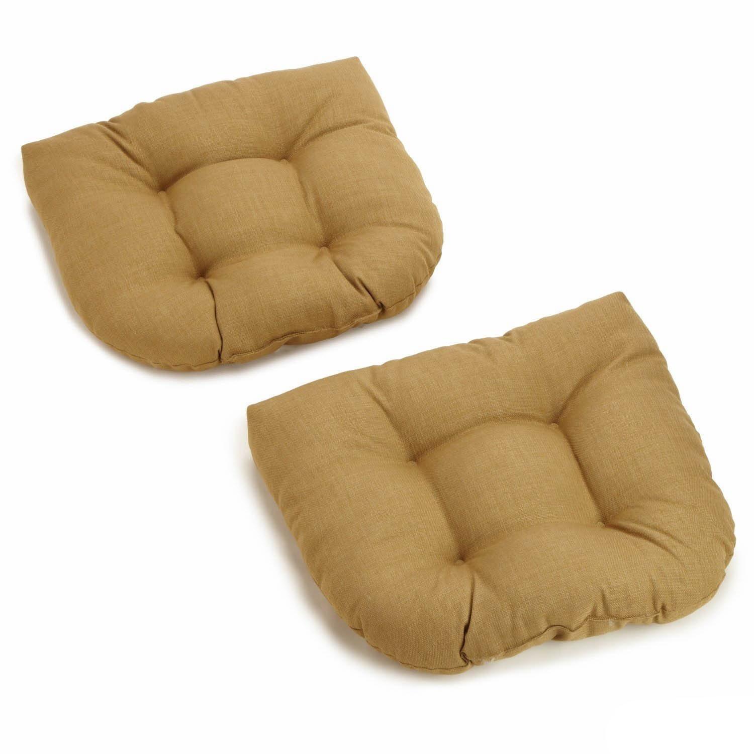 Ordinaire Shop All Weather UV Resistant U Shaped Outdoor Chair Cushions (Set Of 2)    On Sale   Free Shipping Today   Overstock.com   5743332