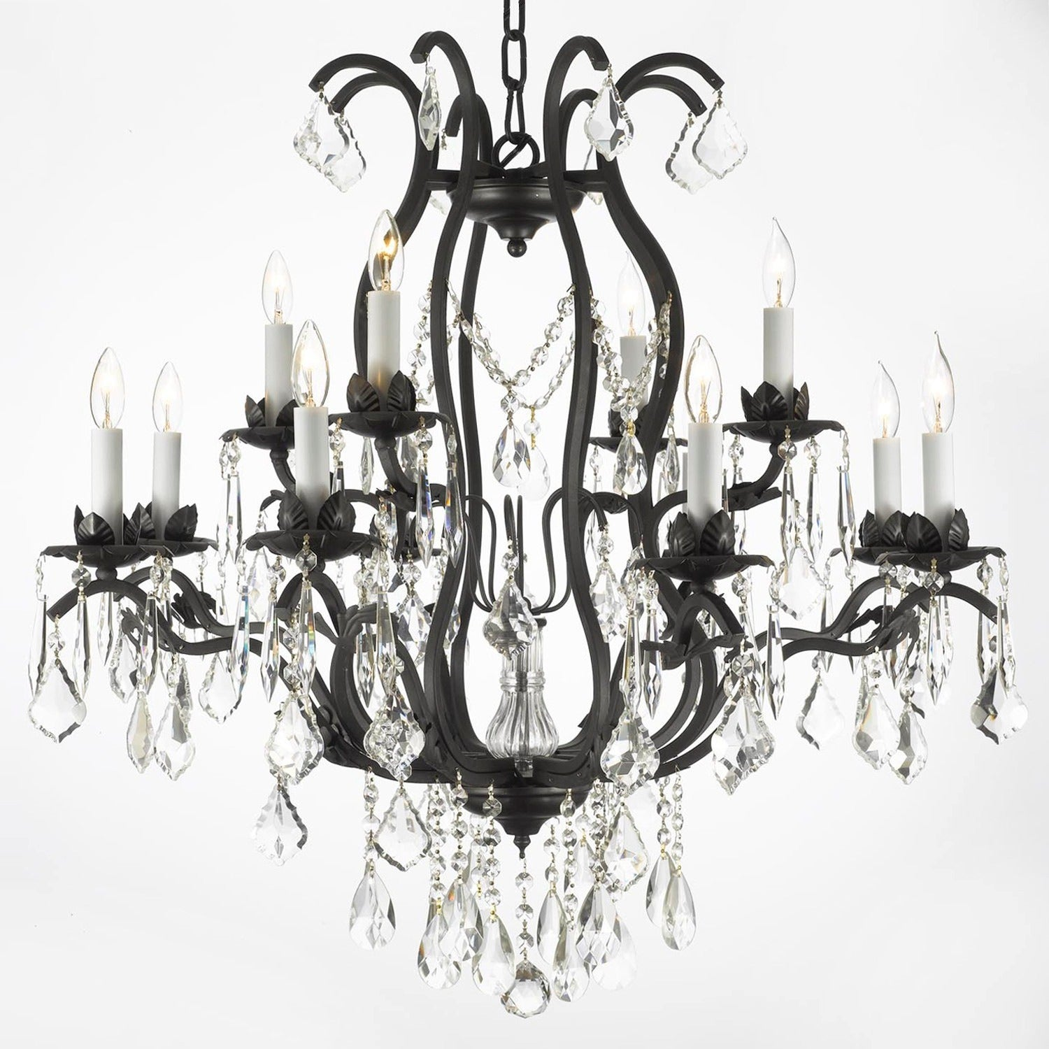 Shop Gallery Regent Iron 12 Light Chandelier Free Shipping Today Wiring Problems Download Diagrams Pictures 5749885