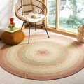 Safavieh Hand-woven Indoor/Outdoor Reversible Multicolor Braided Rug (6' Round)