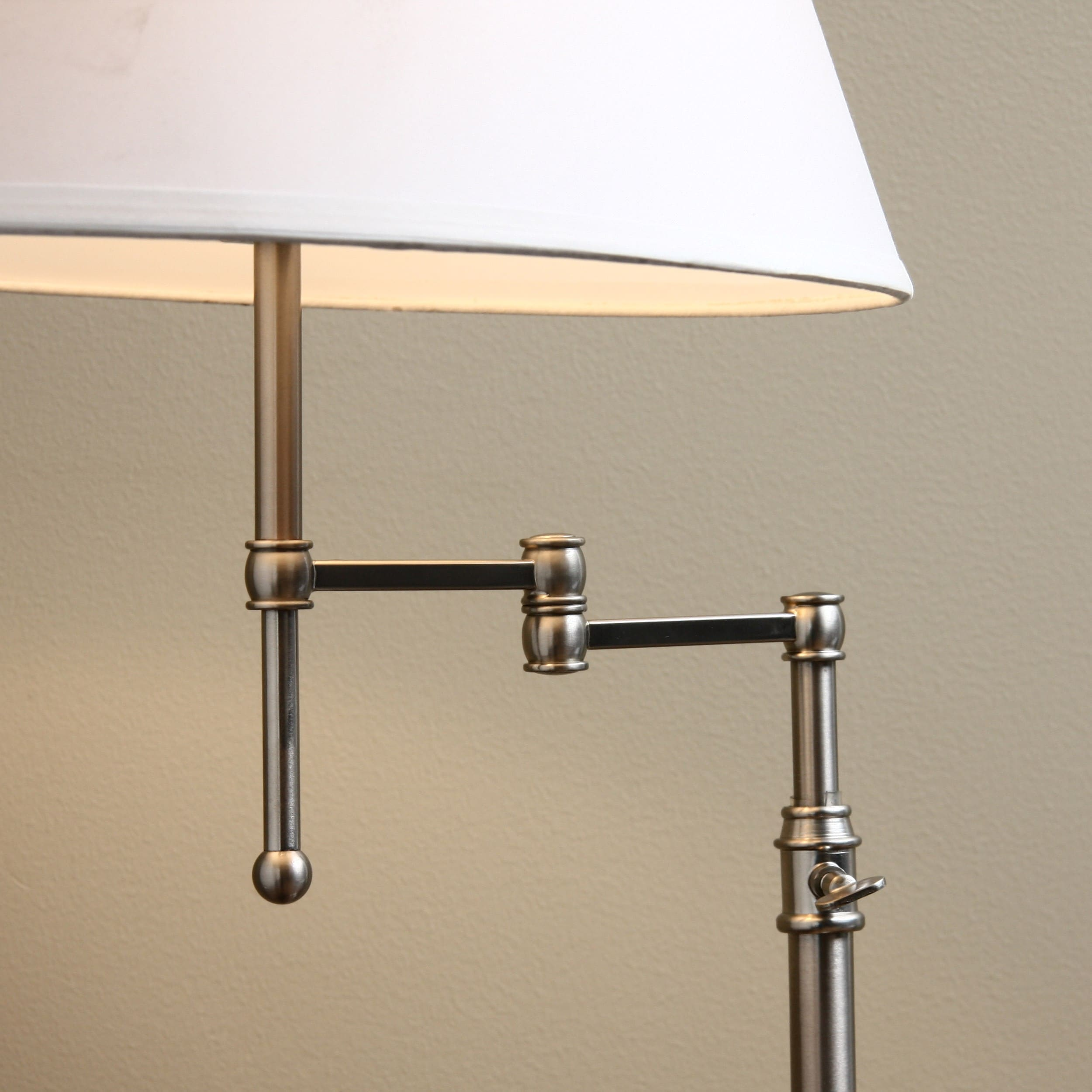 Shop Brushed Nickel Swing Arm Table Lamp Free Shipping Today