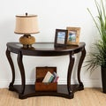 Copper Grove Angelina Espresso Wood and Glass Sofa Table