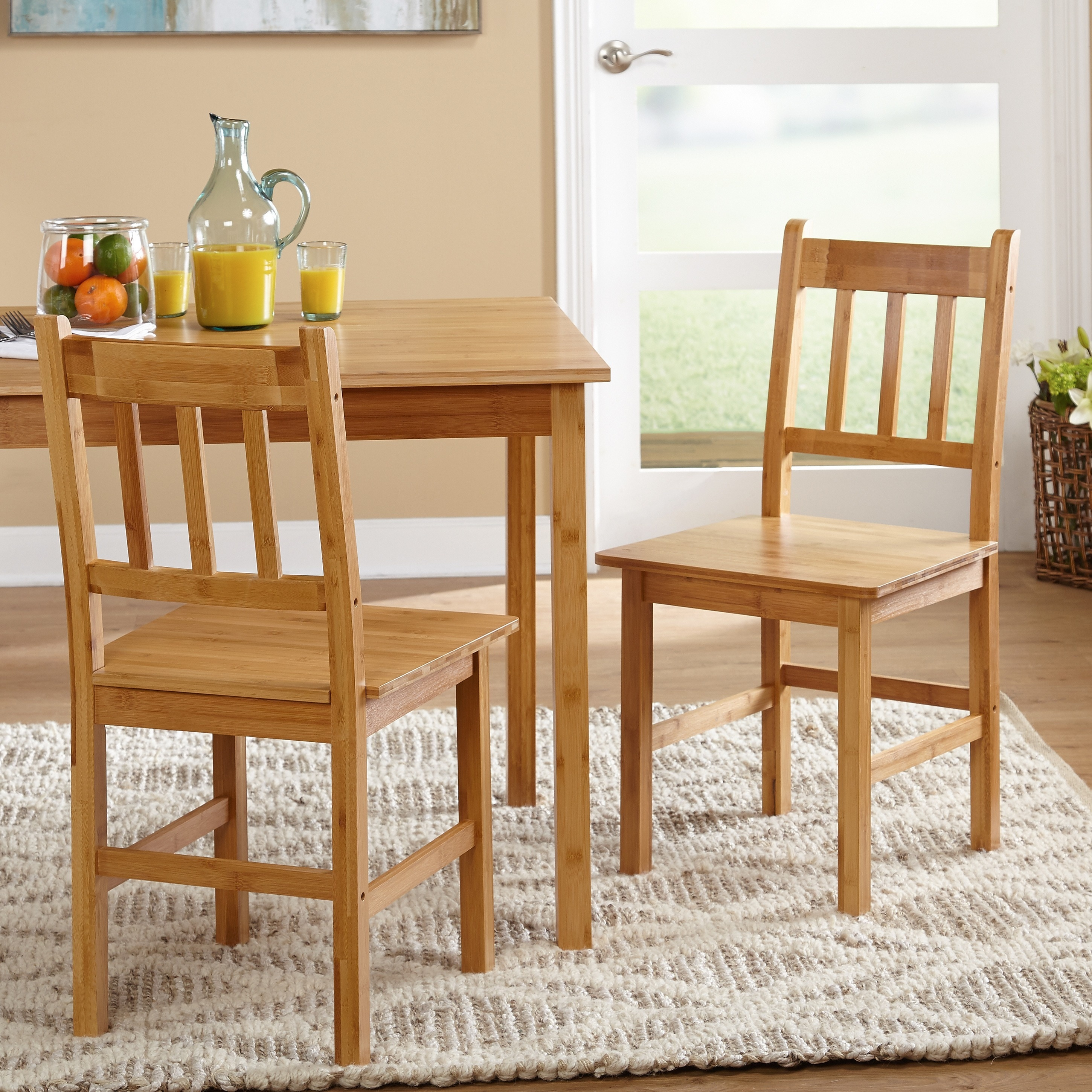 Shop Simple Living Bamboo 5 Piece Dining Set   Free Shipping Today    Overstock.com   5767578