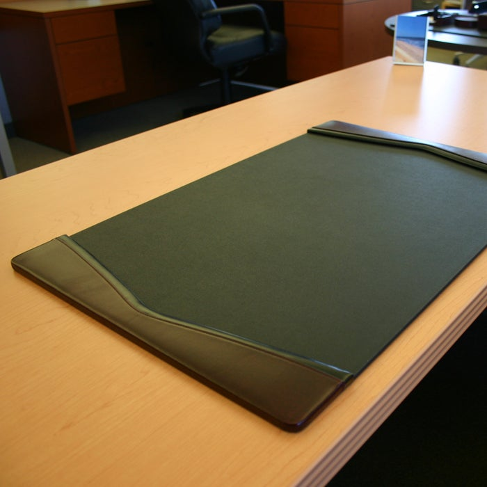 Daco Black And Burgundy Leather Desk Pad With Felt Bottom Free Shipping Today 13497090