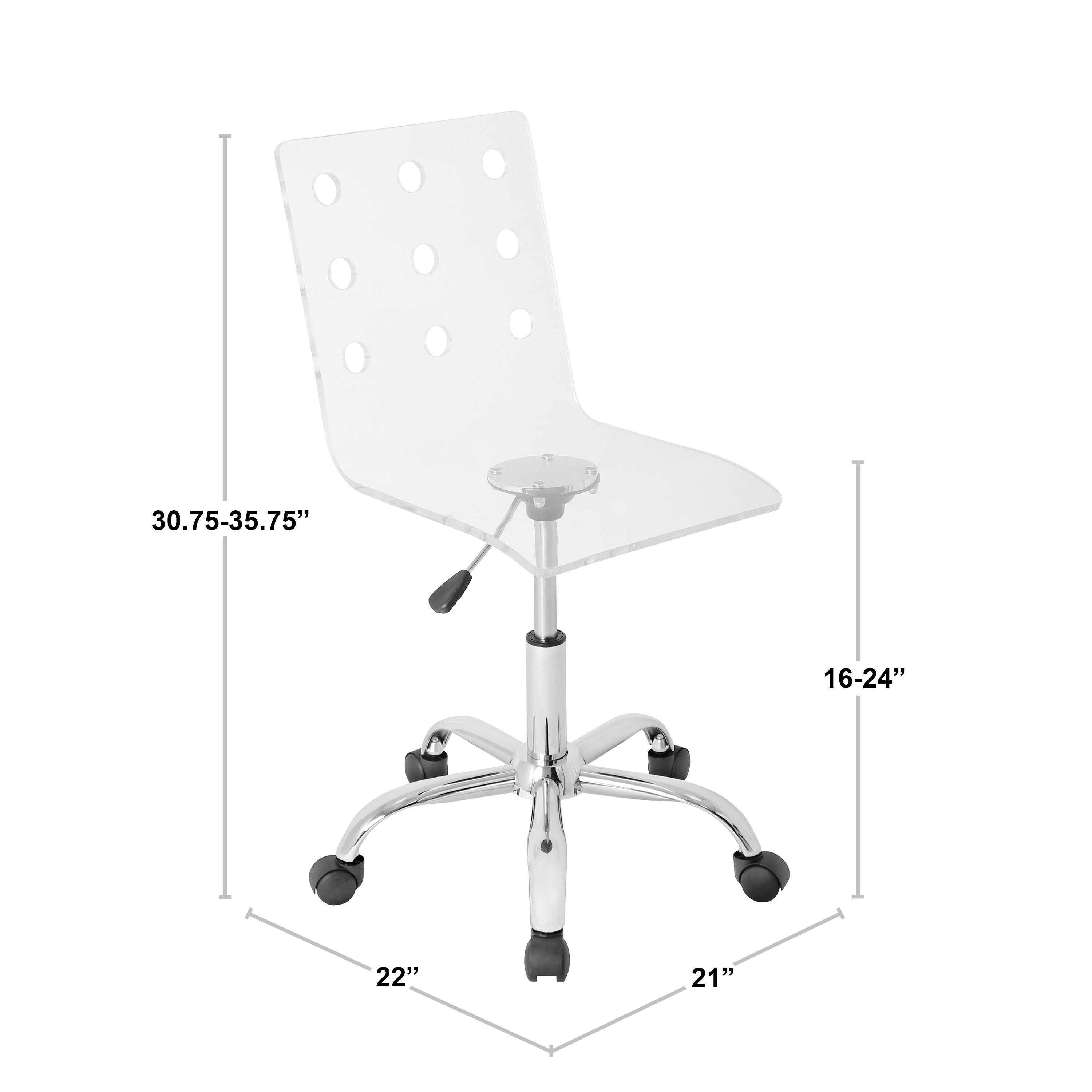 Lumisource Swiss Clear Acrylic Task Chair On Free Shipping Today 5773561