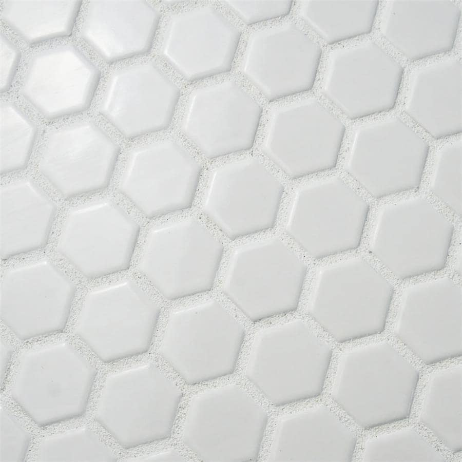 Somertile victorian hex matte white porcelain mosaic tiles pack somertile victorian hex matte white porcelain mosaic tiles pack of 10 free shipping today overstock 13508157 dailygadgetfo Choice Image