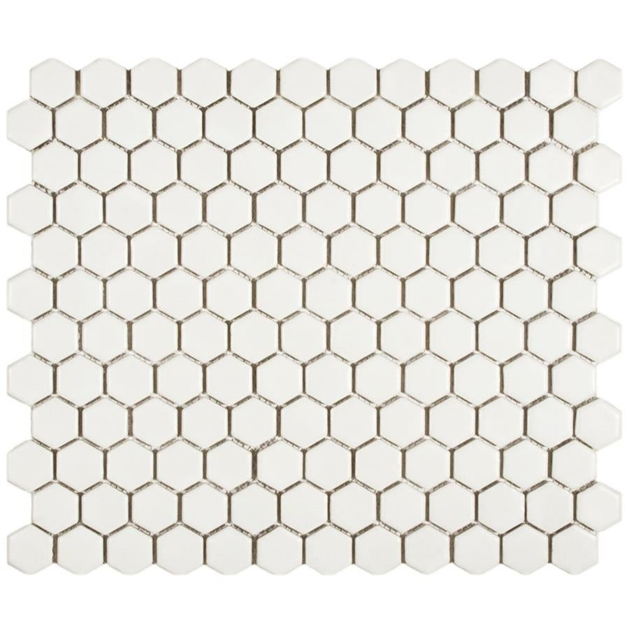 Somertile 10 25x11 75 Inch Victorian Hex Matte White Porcelain Mosaic Floor And Wall Tile Tiles 8 54 Sqft Free Shipping Today