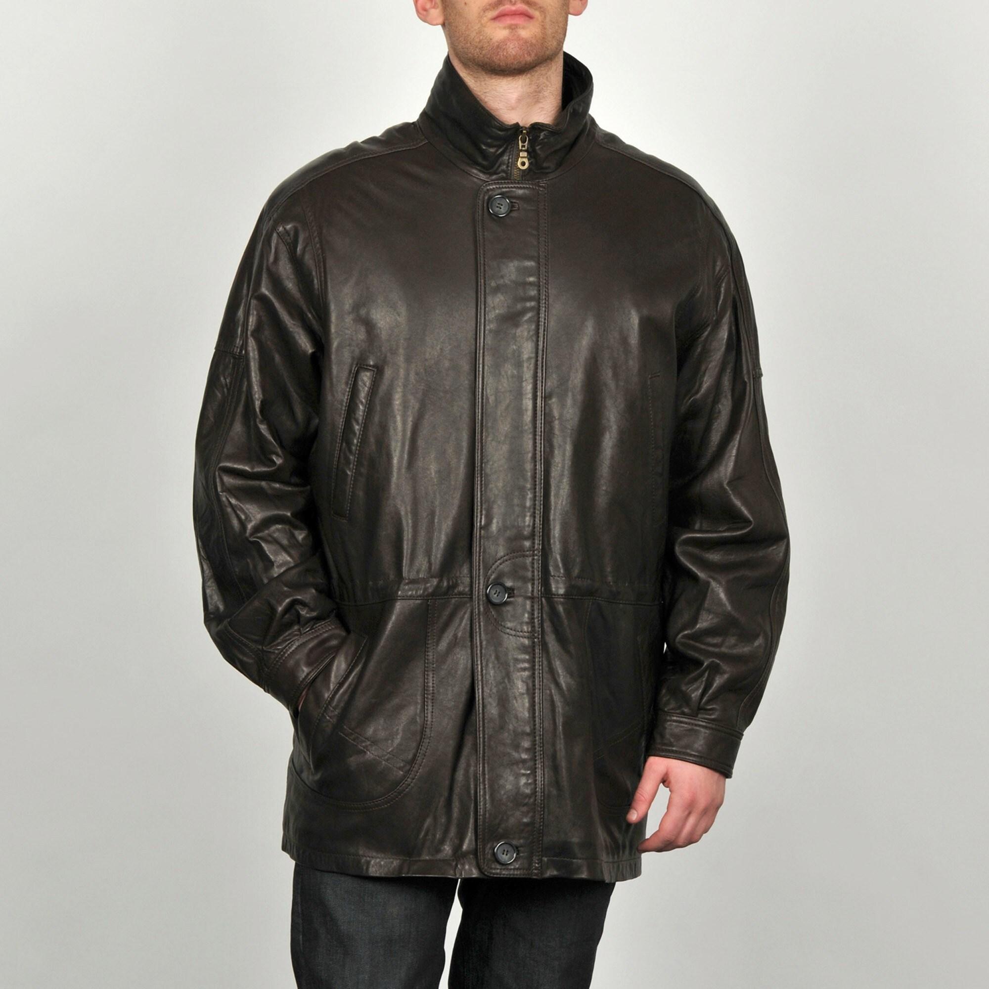 Shop Tibor Men S Leather Anorak Jacket Free Shipping Today