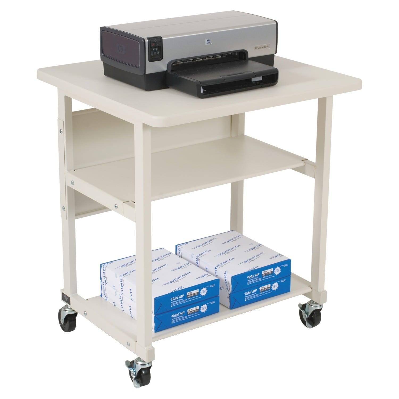 wheel printer shelf with wood laptop small black cart desk drawers itm computer on
