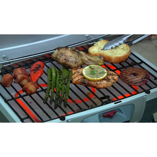 Cuisinart CEG 980T Portable Grey/ Black Outdoor Electric Tabletop Grill    Free Shipping Today   Overstock   13514662