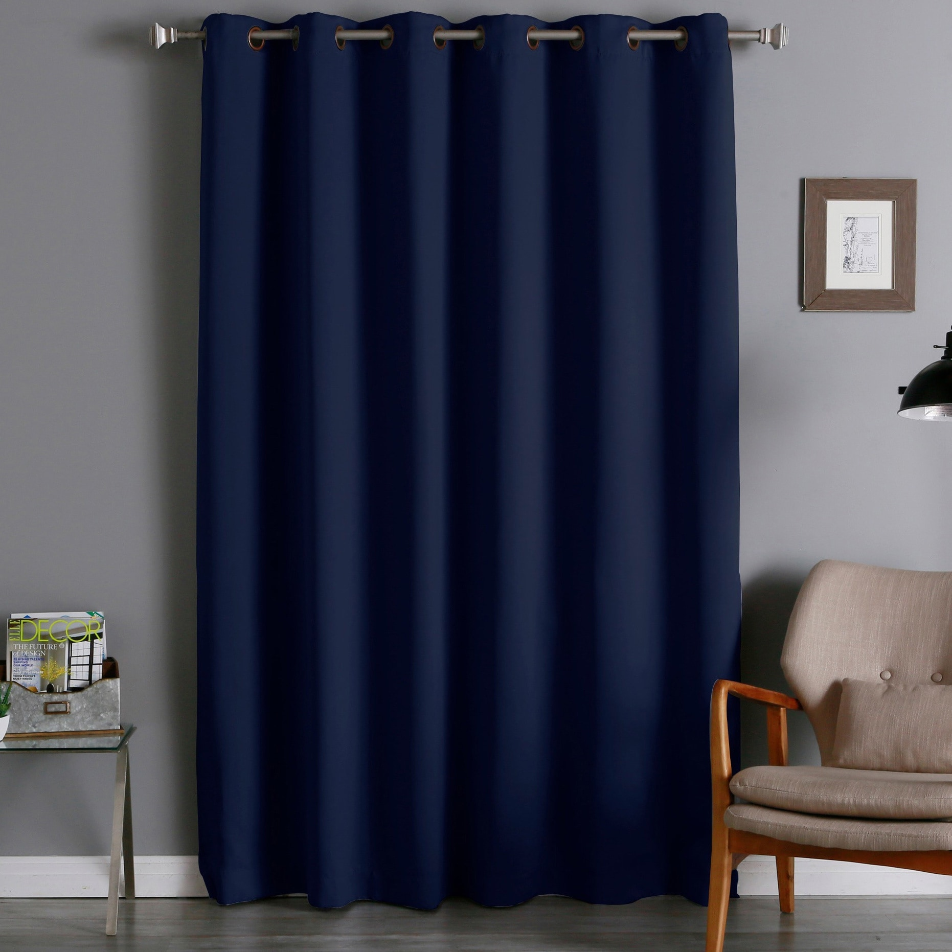 Shop Aurora Home 96-inch Wide-width Thermal Blackout Curtain Panel ...