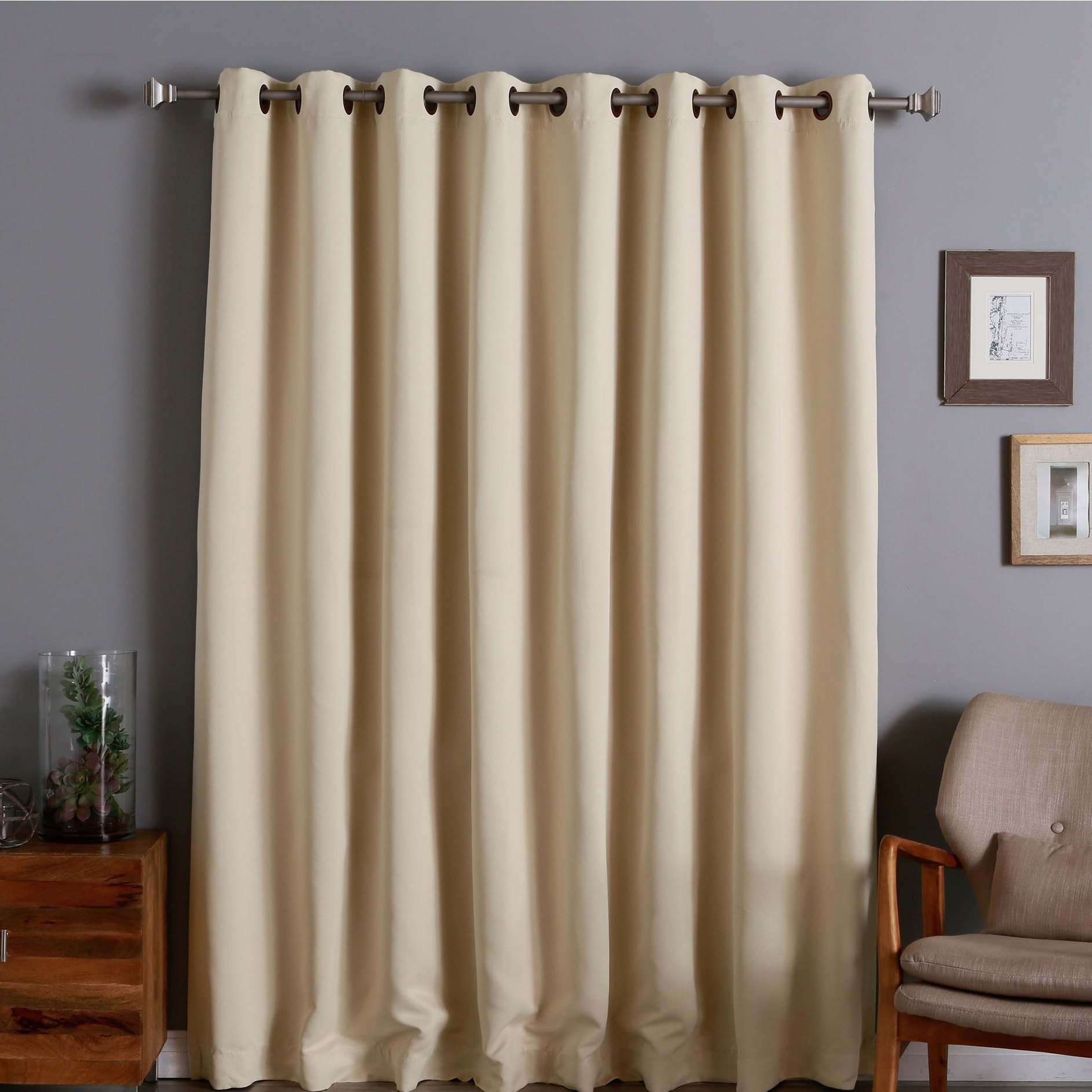Aurora Home Extra Wide Thermal 96 Inch Blackout Curtain Panel 100 X