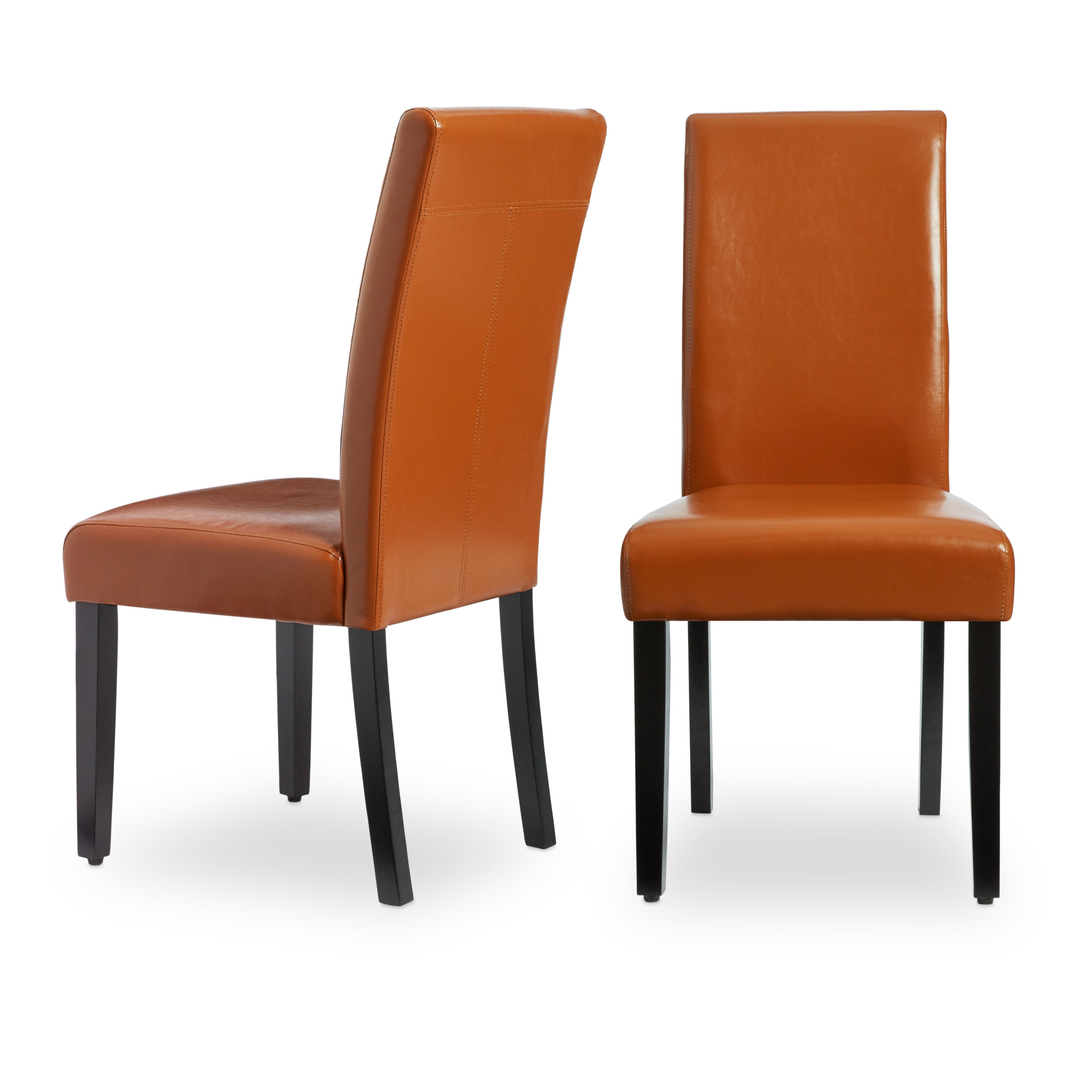 Villa Faux Leather Dining Chairs Set Of 2 On Free Shipping Today 5801287