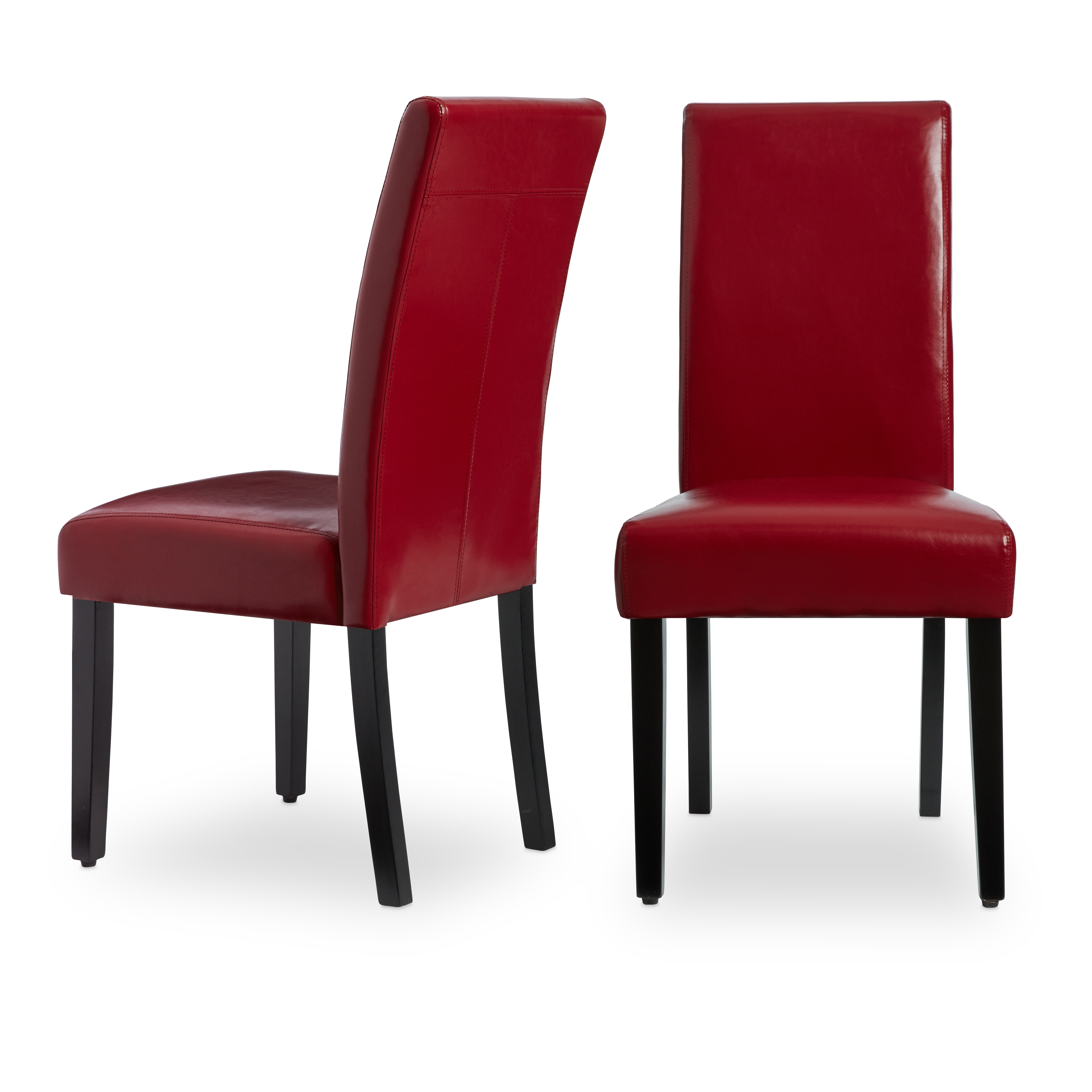 Shop villa faux leather dining chairs set of 2 free shipping today overstock com 5801287