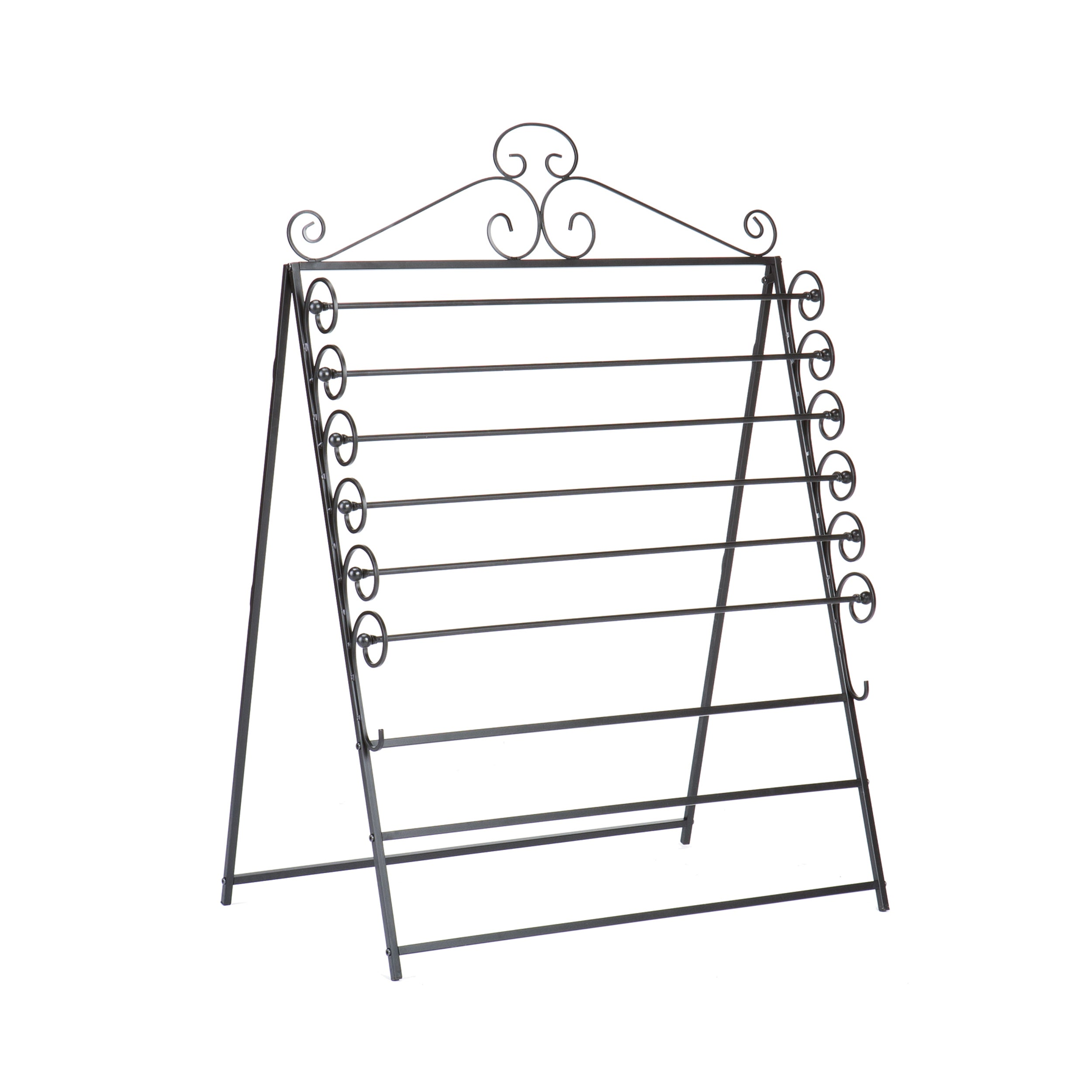 Harper Blvd Leal Black Wrapping Paper & Craft Storage Rack - Free Shipping  Today - Overstock.com - 13521838