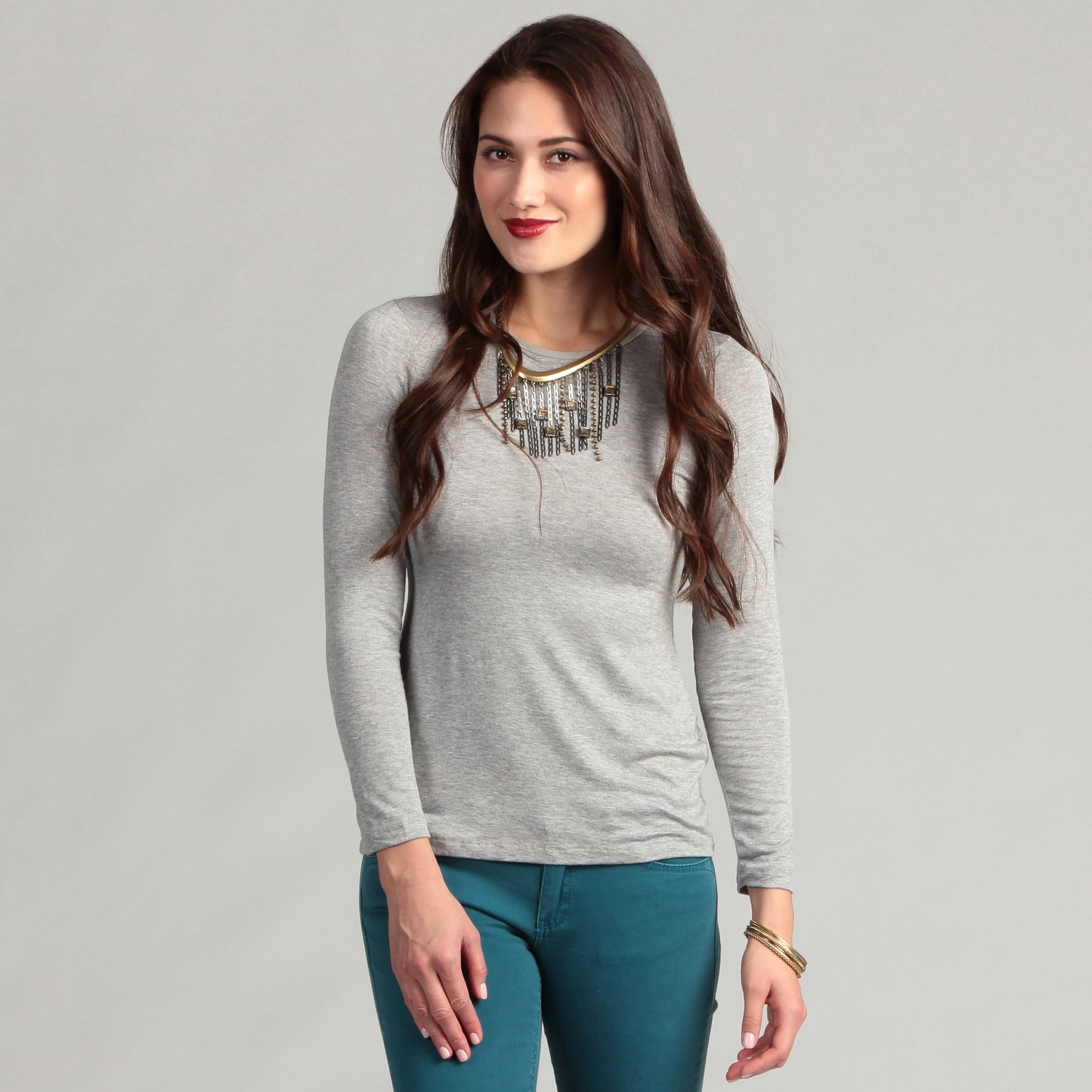 Shop 247 Comfort Womens Long Sleeve Knit Top On Sale Free