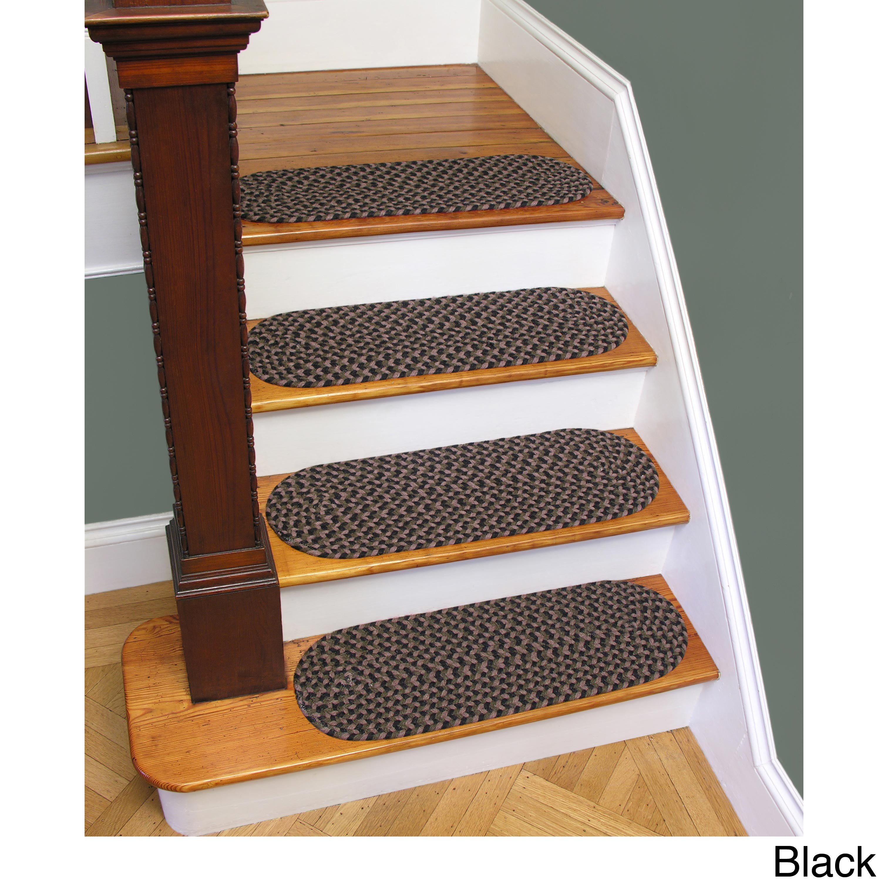 Shop Westerly Set Of 4 Wool Braided Non Slip Stair Treads (9 X 29)   Free  Shipping On Orders Over $45   Overstock.com   5814654