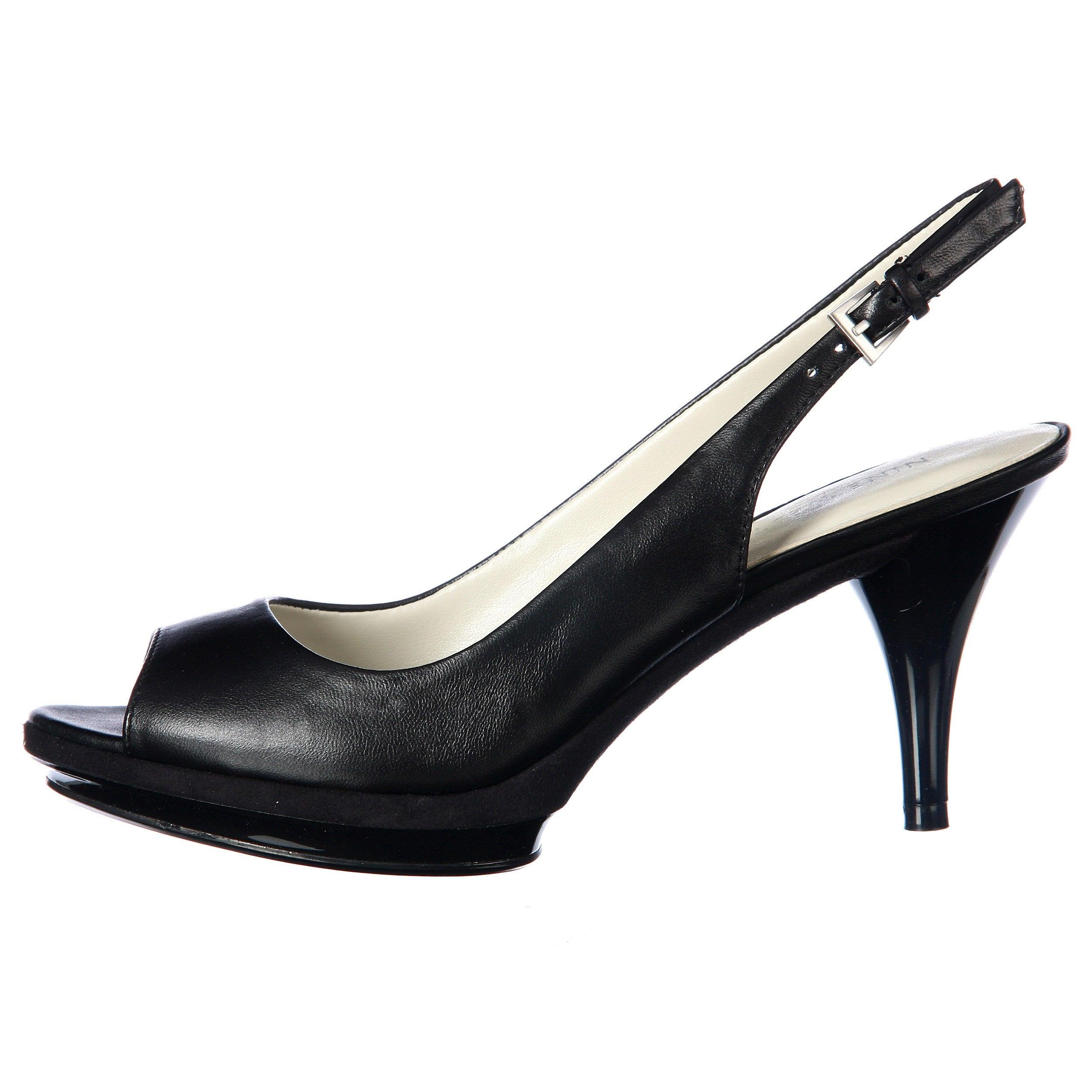 7bbefb891e3 Shop Nine West Women s  Sharina  Black Slingback Pumps - Free Shipping  Today - Overstock - 5822384