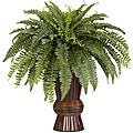 Silk 33-inch Potted Boston Fern