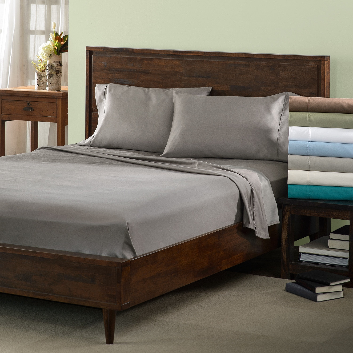 Superior 600 Thread Count Deep Pocket Olympic Queen Cotton Blend ...