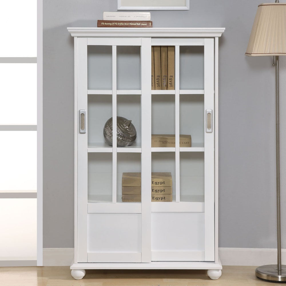 Altra White Sliding Glass Doors Bookcase Free Today Com 5842264