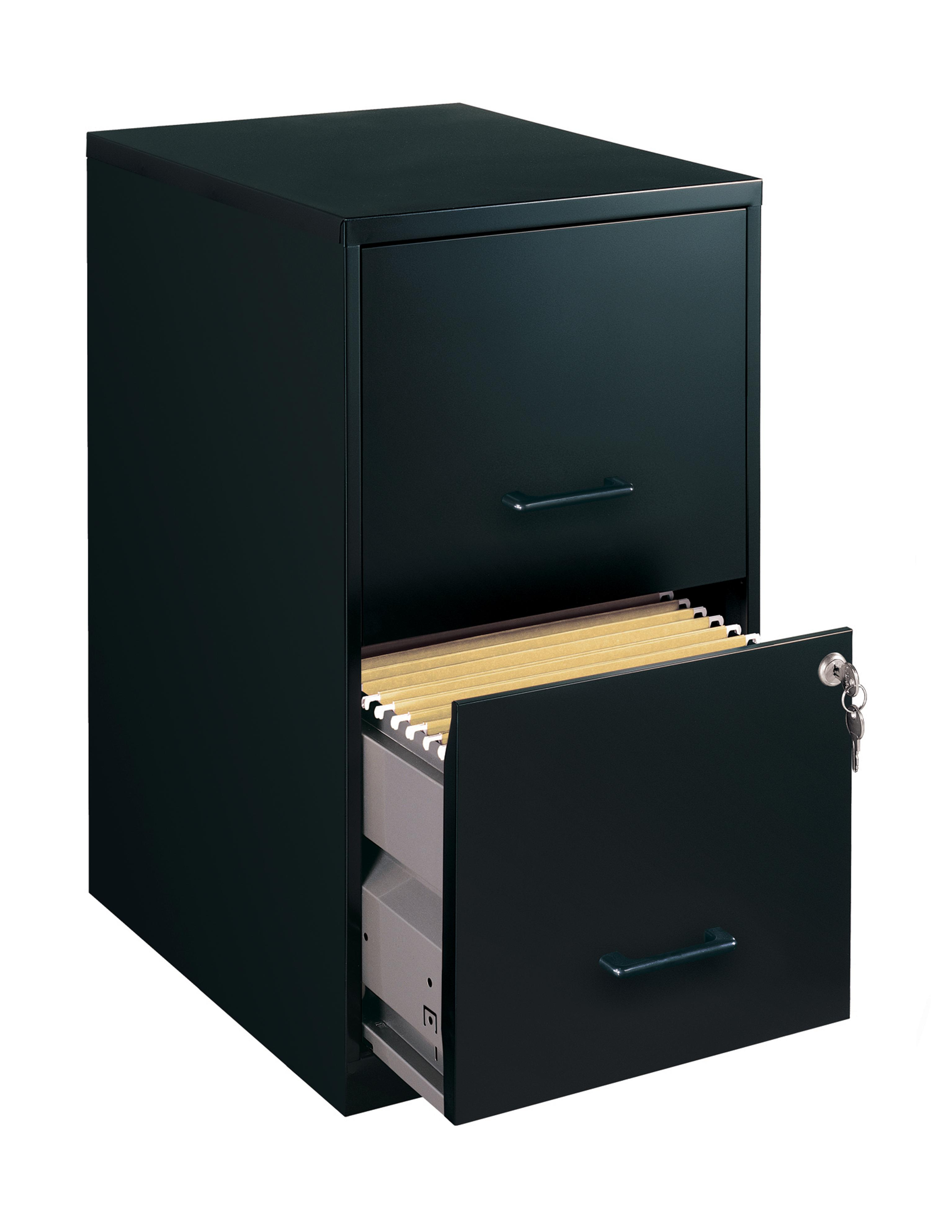 Office Designs Black Colored 2 Drawer Steel File Cabinet Free Shipping Today 13565562