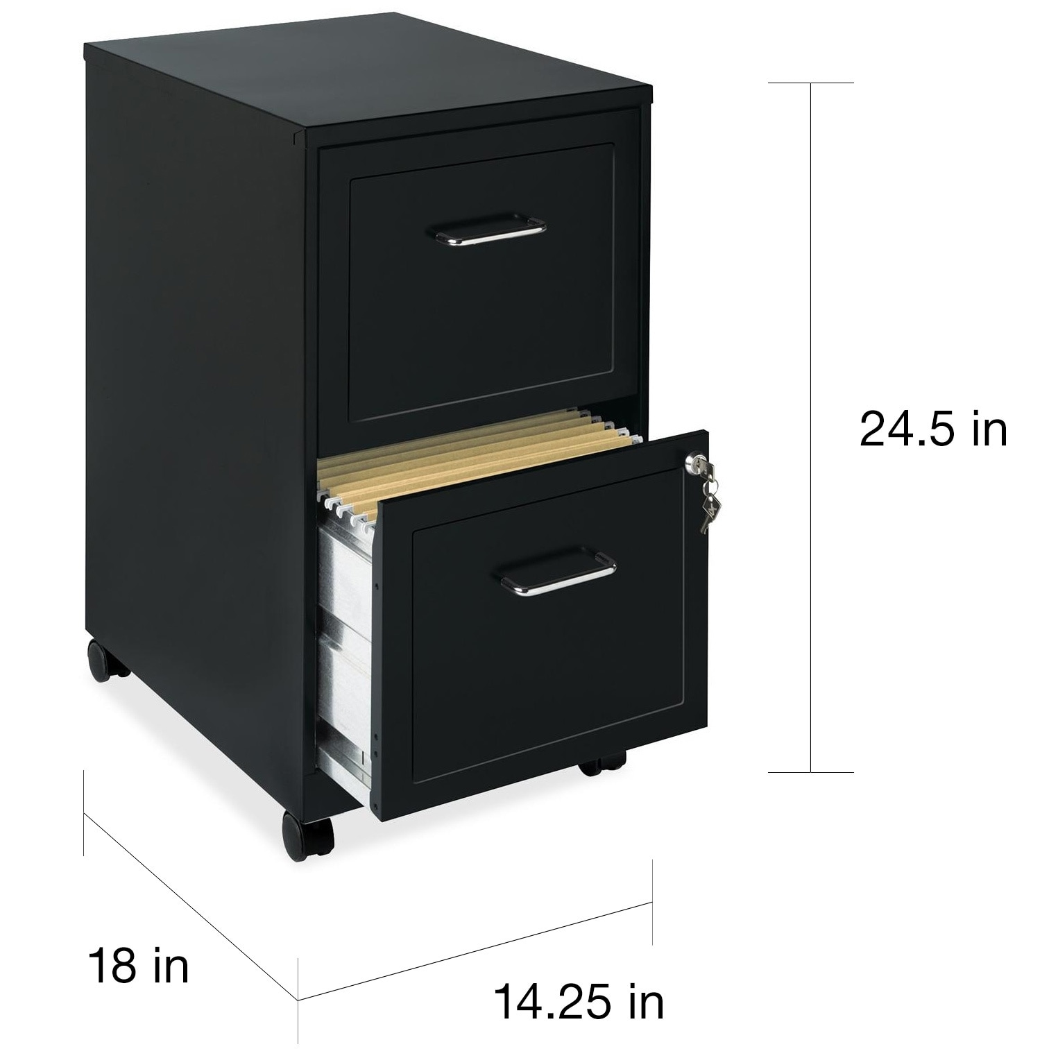 Office Designs Black 2 Drawer Mobile File Cabinet Free Shipping Today 5853279