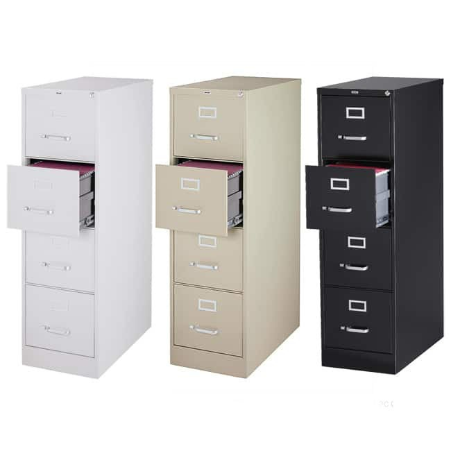 Hirsh Commercial 25 D 4 Drawer Letter Vertical File Cabinet Free Shipping Today 5853292