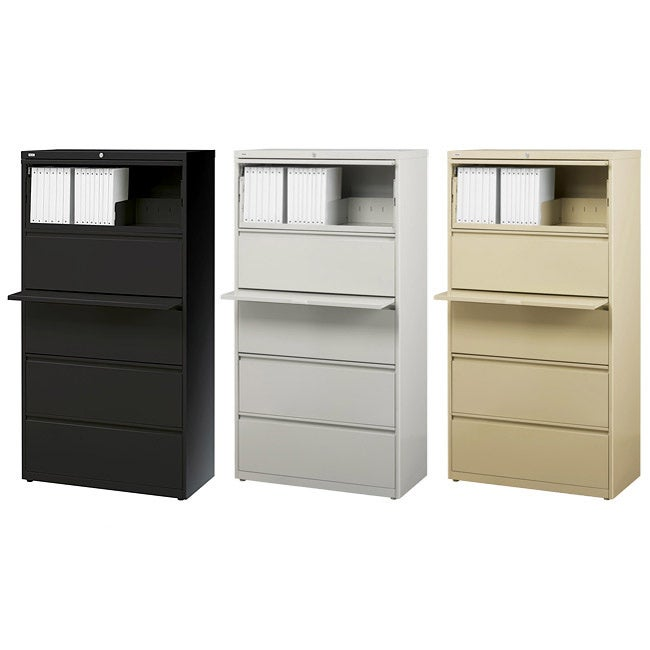 Shop Hirsh HL10000 Commercial Lateral File Cabinet 30  Wide 5-drawer - Free Shipping Today - Overstock.com - 5862840  sc 1 st  Overstock.com & Shop Hirsh HL10000 Commercial Lateral File Cabinet 30