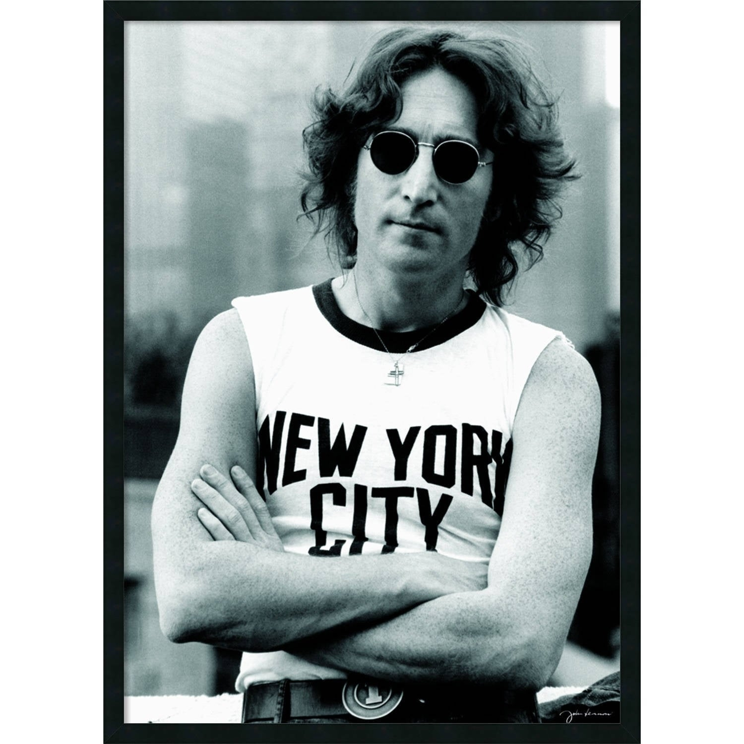 b0bcf885c79e4 Shop  John Lennon - NYC  25 x 37-inch Framed Art Print with Gel Coated  Finish - Free Shipping Today - Overstock - 5870501