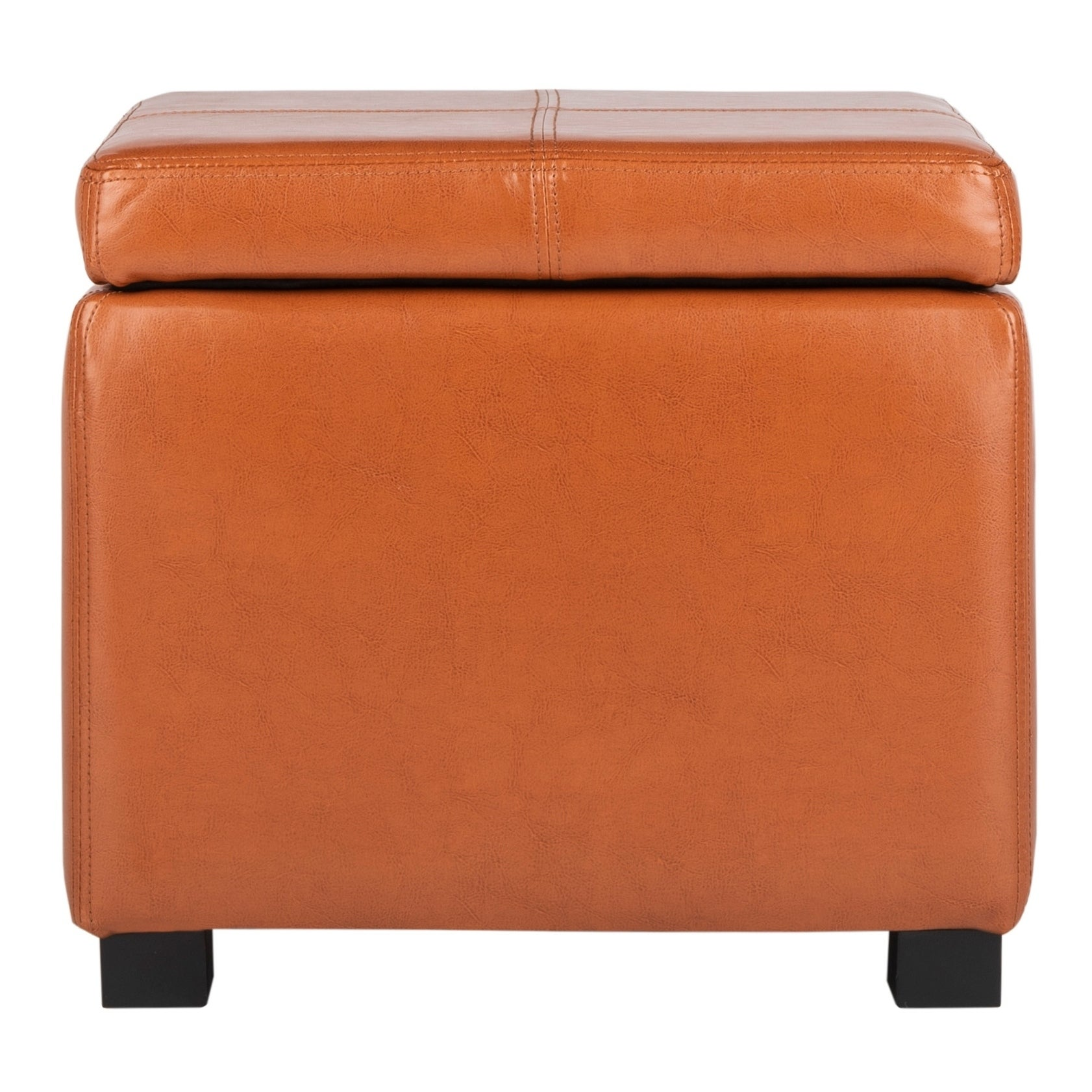 Shop safavieh broadway saddle leather storage ottoman on sale free shipping today overstock com 5880659
