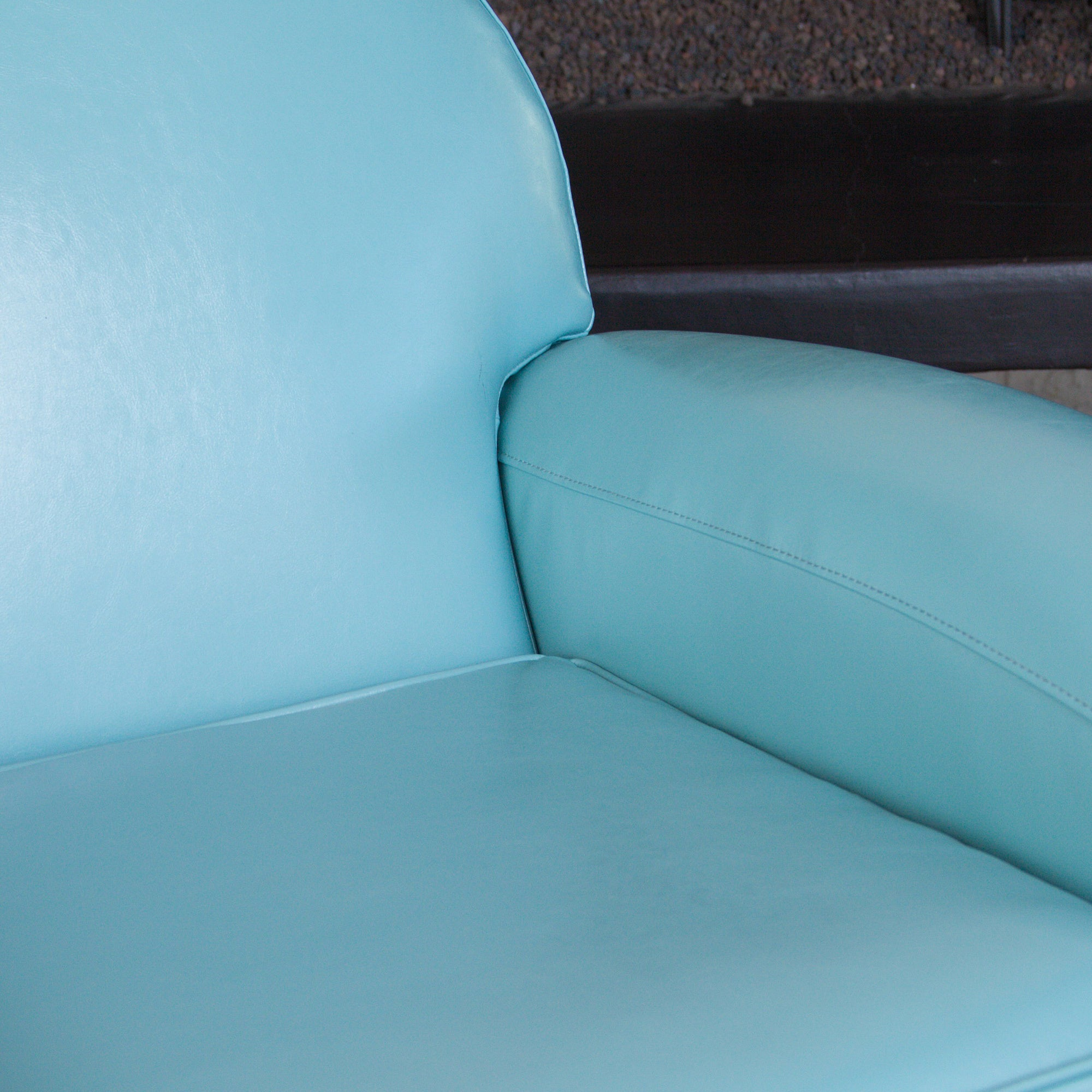 david teal blue leather club chair by christopher knight home