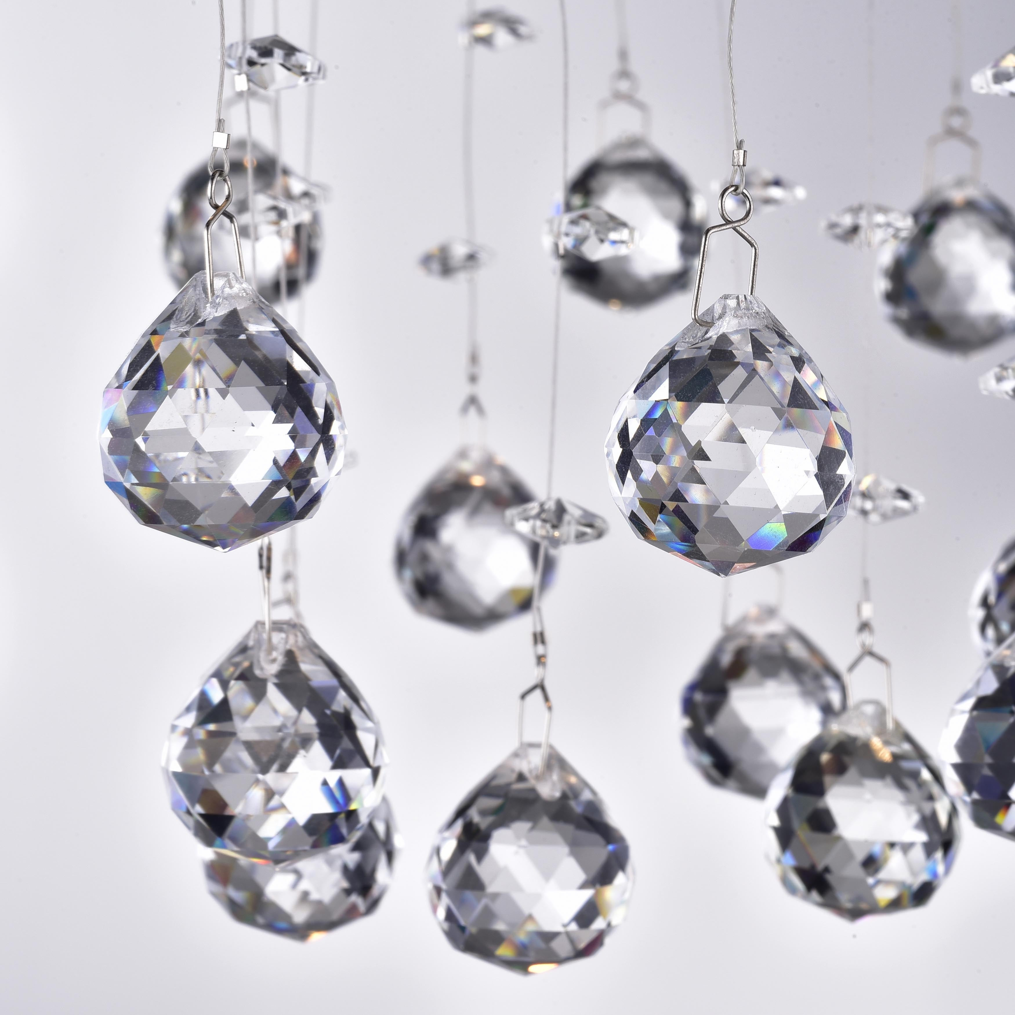 Floating bubble chrome and white 5 light crystal chandelier free floating bubble chrome and white 5 light crystal chandelier free shipping today overstock 13605676 aloadofball Images