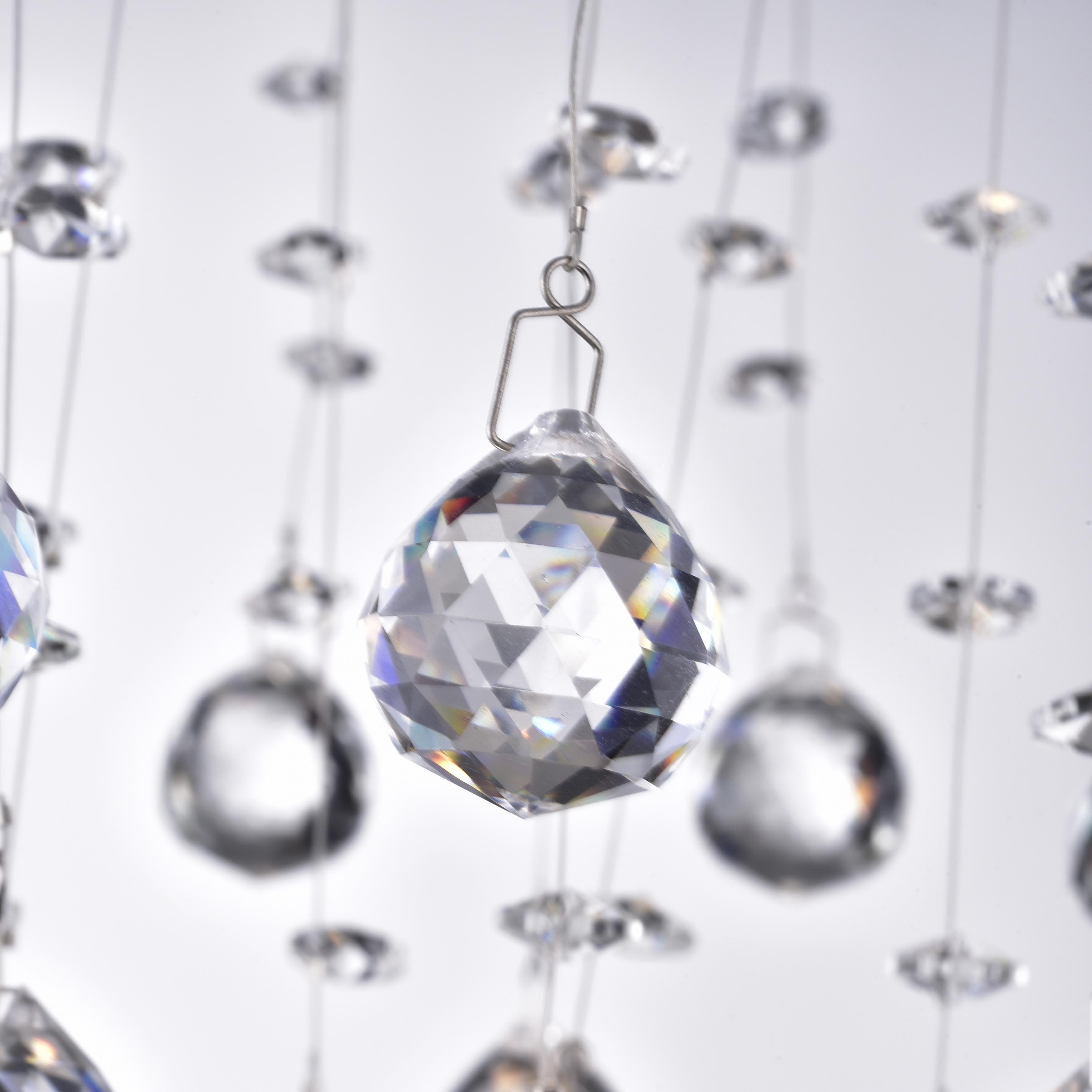 The lighting store floating bubble white and chrome clear crystal 5 the lighting store floating bubble white and chrome clear crystal 5 light crystal chandelier free shipping today overstock 13605676 arubaitofo Image collections