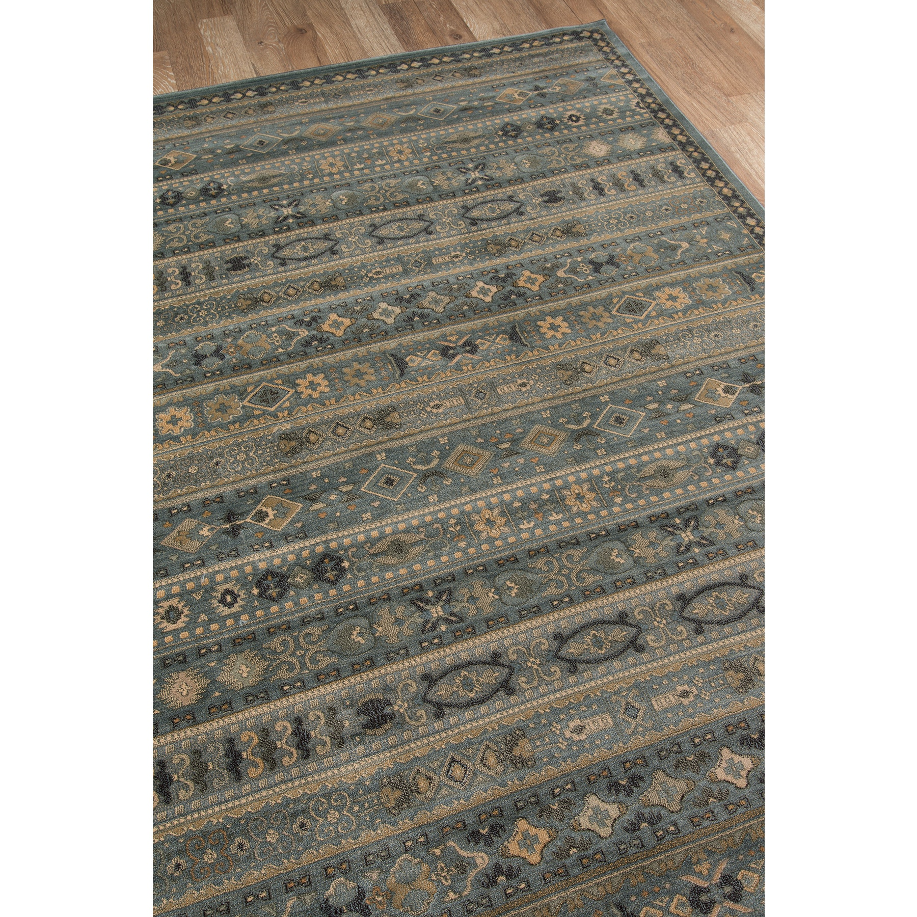 Momeni Belmont Machine Made Polypropylene Light Blue Area Rug 7 10 X 9