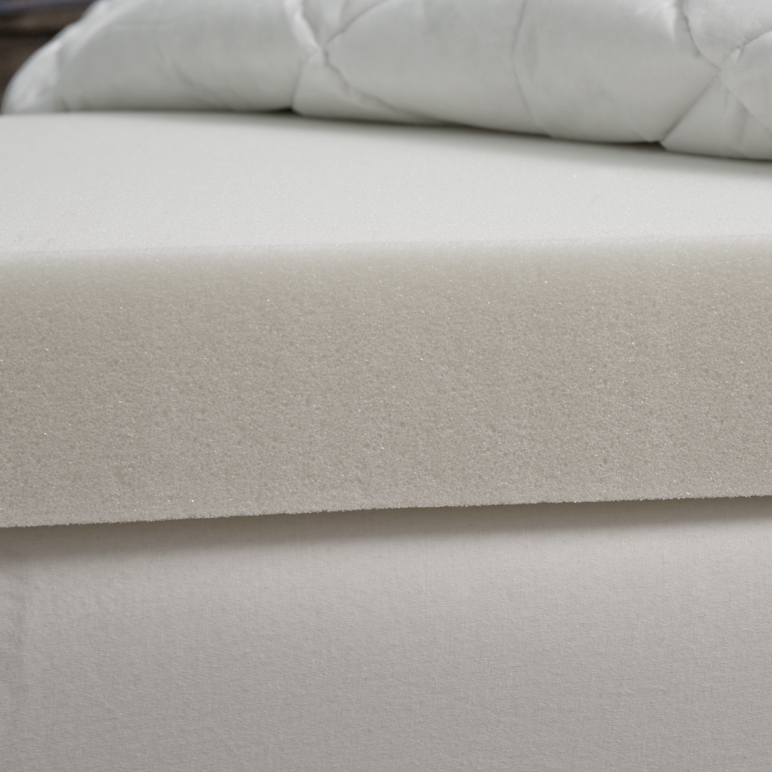 bed fiber size product free bath bedding topper full abff microfiber twin box skirt white baffled with mattress today shipping overstock