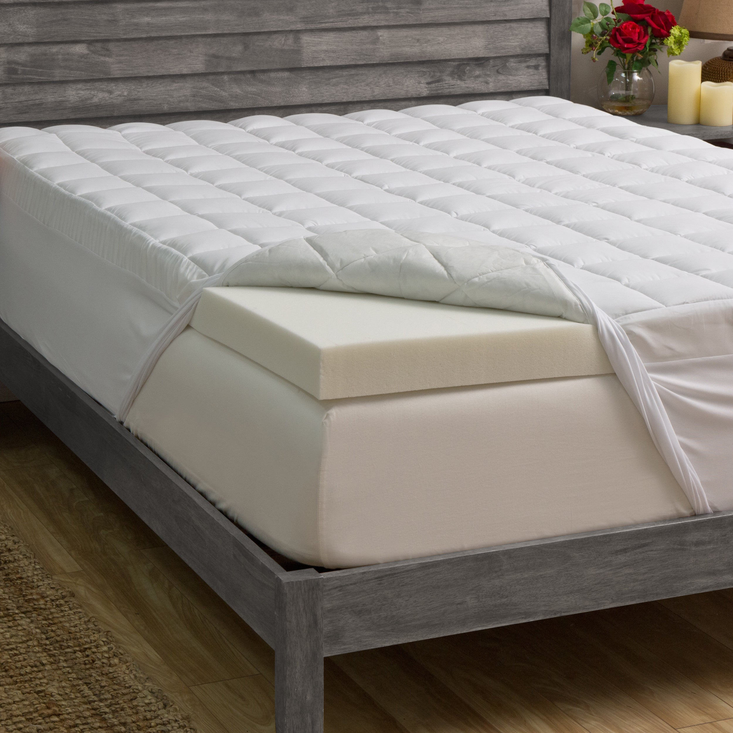 Slumber Solutions 3 inch Memory Foam and 1 5 inch Fiber Mattress