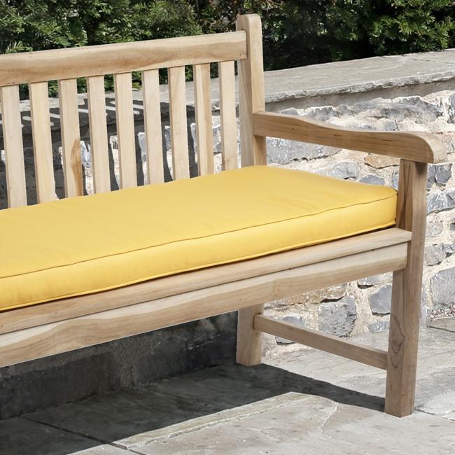 Clara Indoor Outdoor Sunflower Yellow Bench Cushion Made With Sunbrella