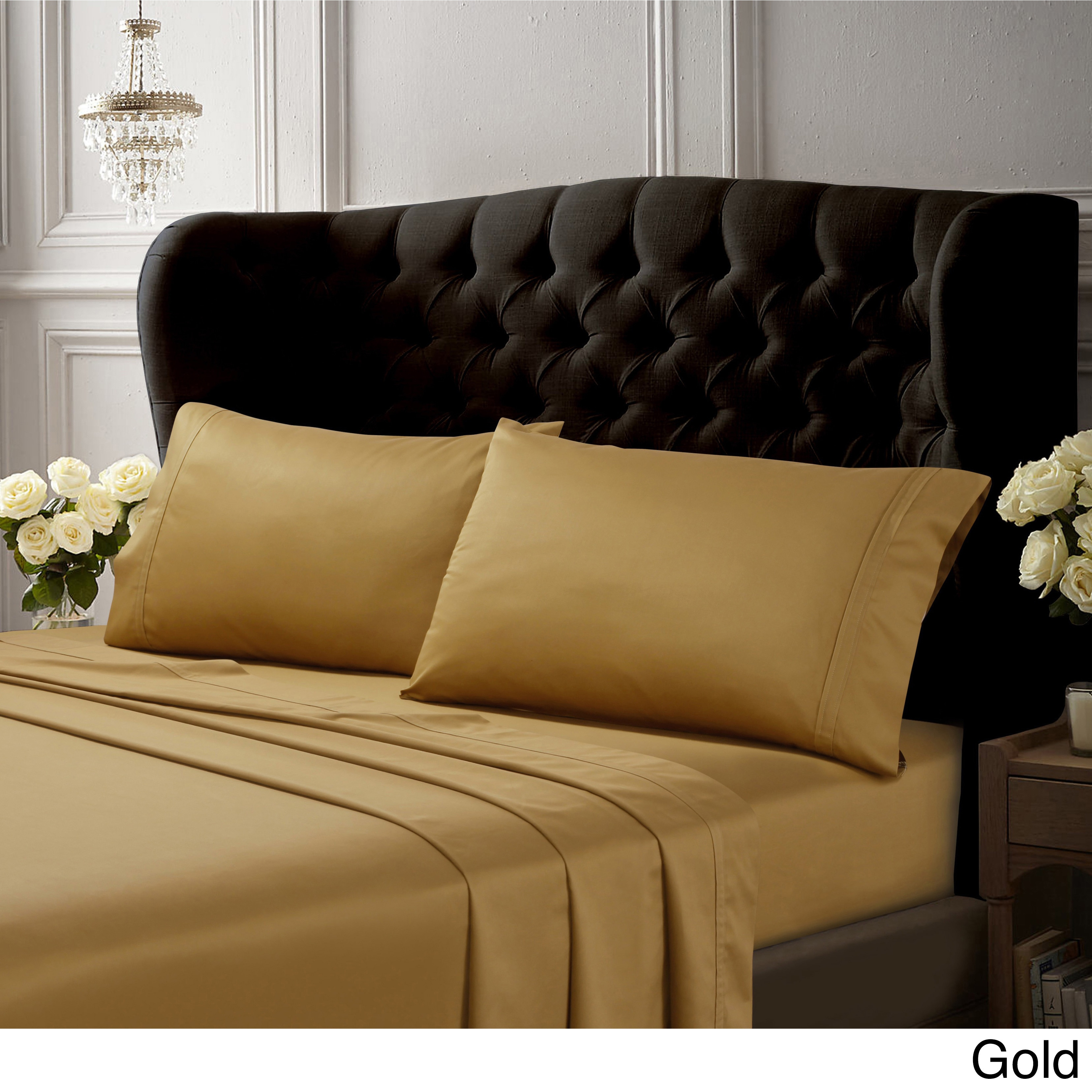 Egyptian Cotton 500 Thread Count Extra Deep Pocket Solid Sheet Set On Free Shipping Today 5904477